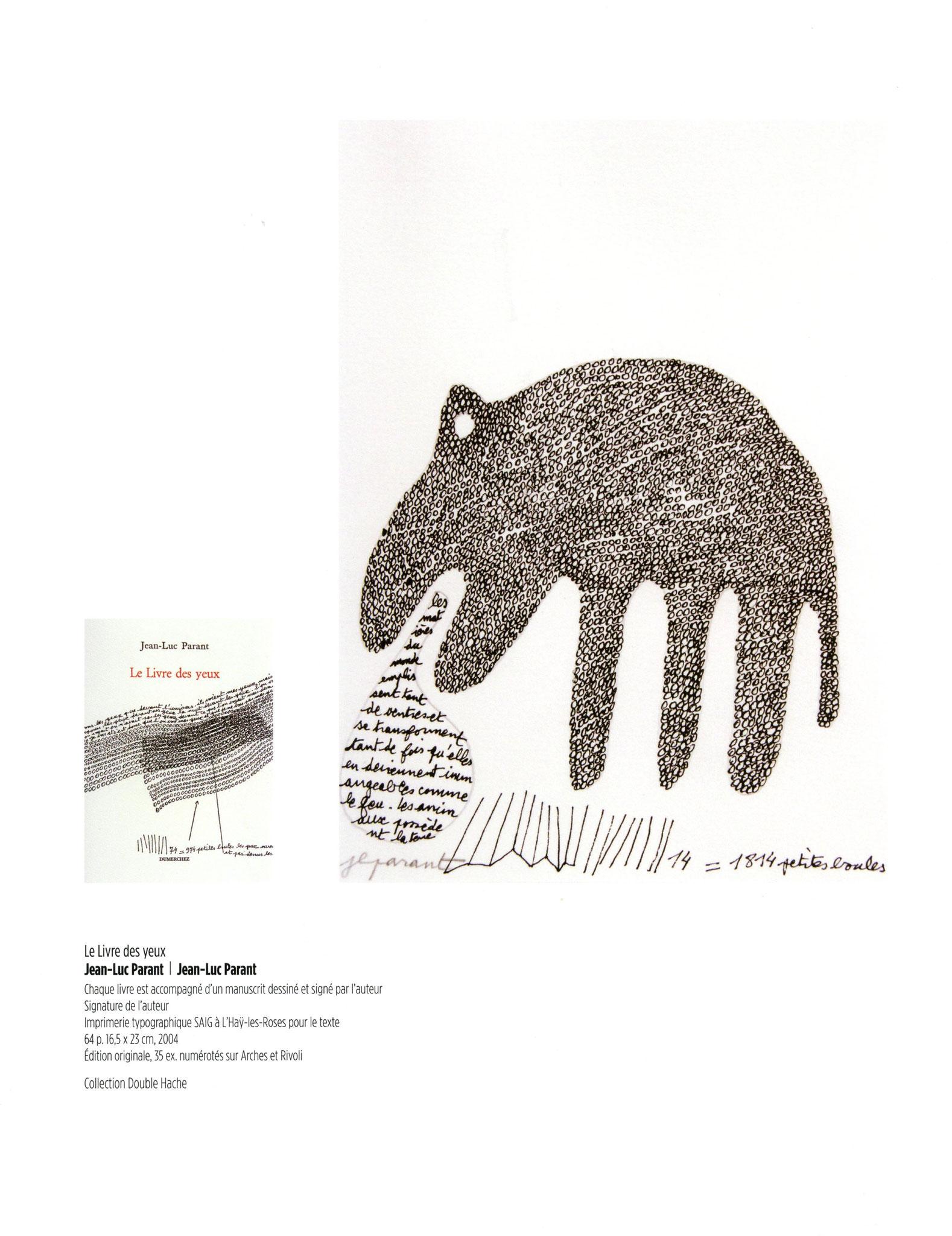 Le livre des yeux - Jean-Luc Parant / Jean-Luc Parant