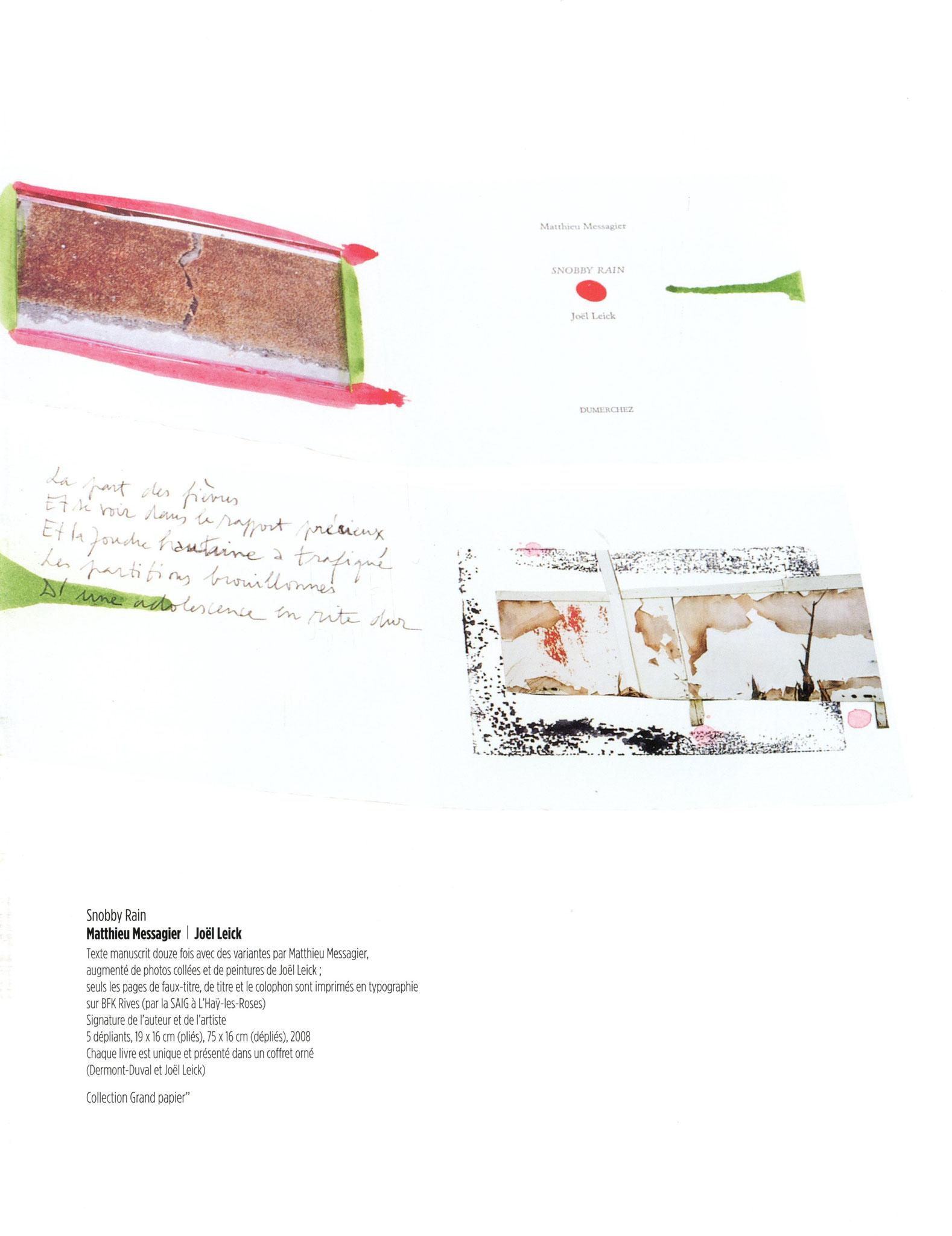 Snobby Rain - Matthieu Messagier / Joël Leick