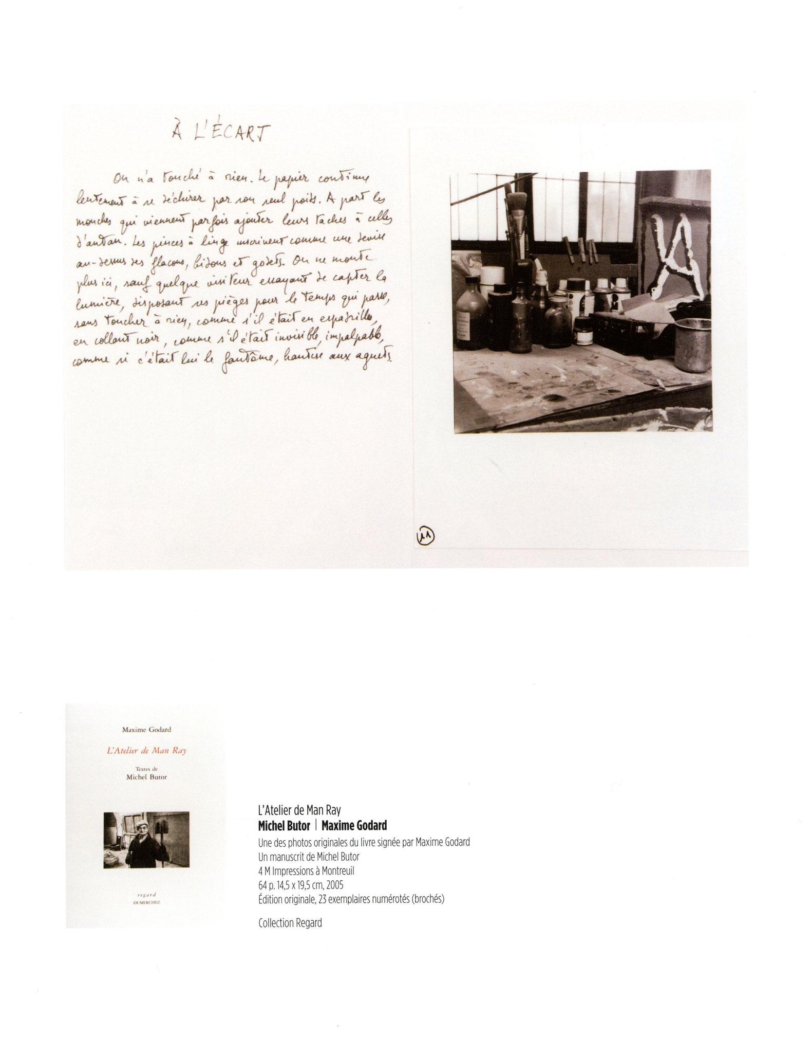 L'Atelier de Man Ray - Michel Butor / Maxime Godard