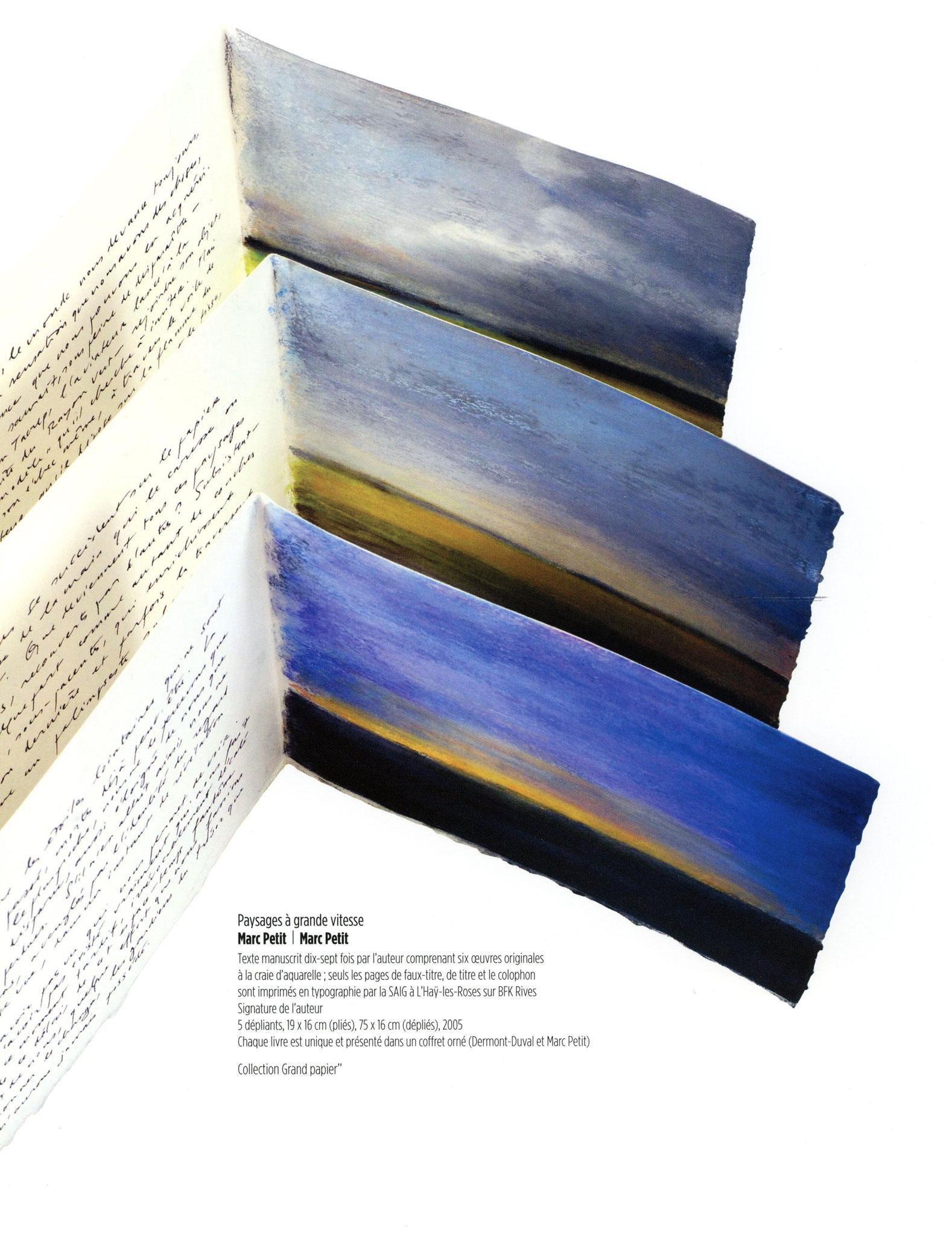 Paysages à grande vitesse - Marc Petit / Marc Petit