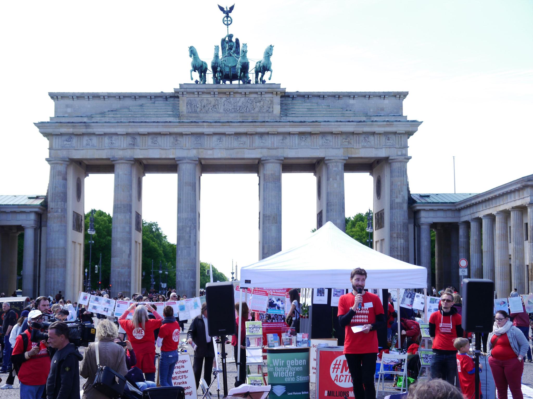 Rede von Sebastian Musch von der Deutschen Gesellschaft für ME/CFS