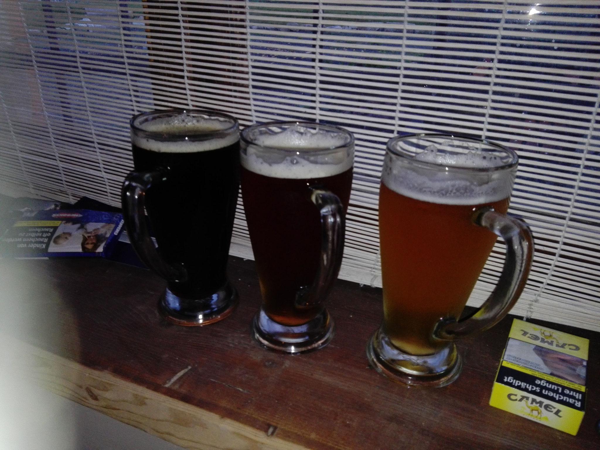 Manchmal, wie hier bei Franks Burgerlicious Gera stehen auch drei Bier da