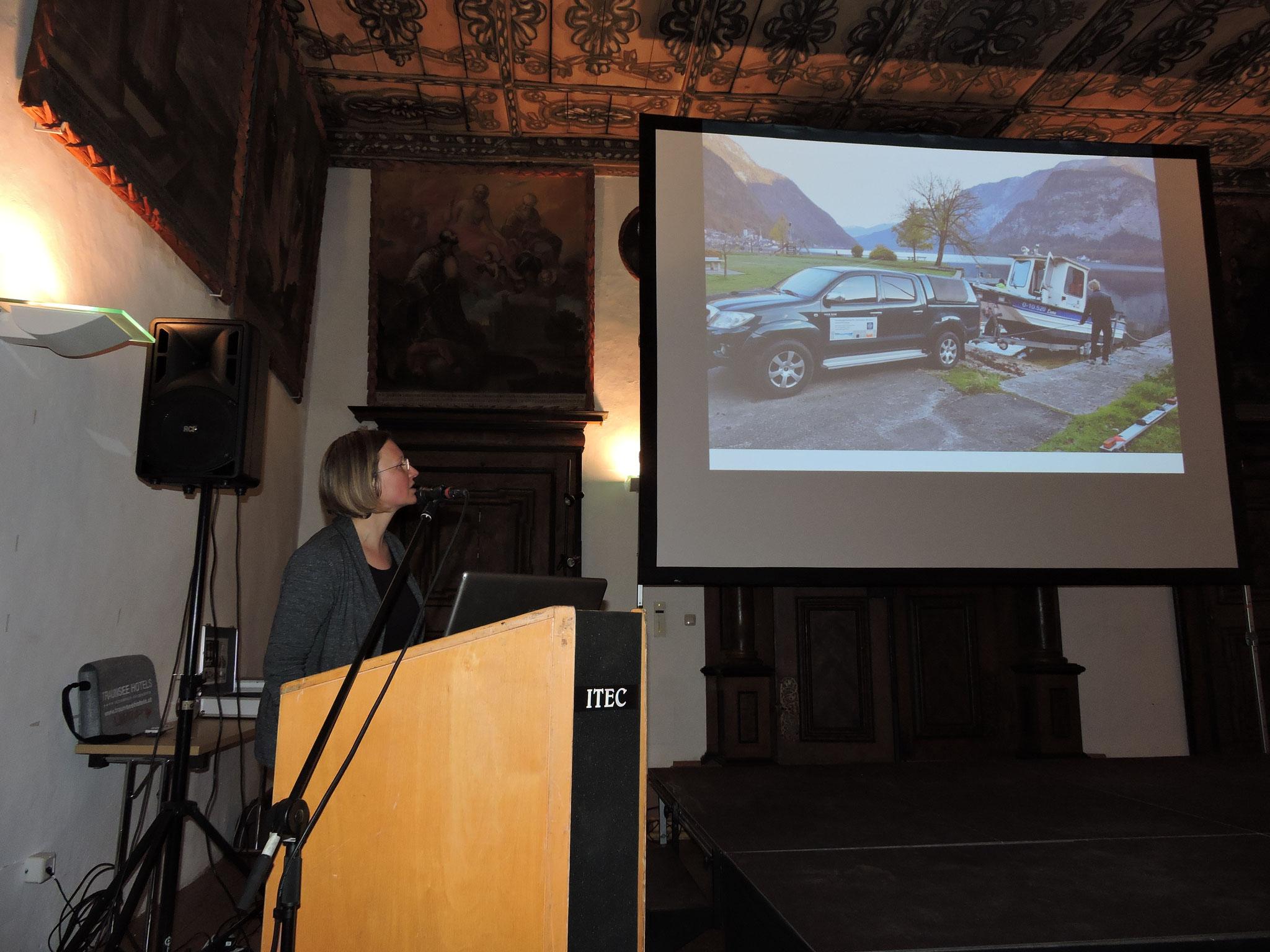 Auch über die Erforschung des Seebodens mittels Bohrungen und Ultraschallscan wurde berichtet       ©B. Bichler
