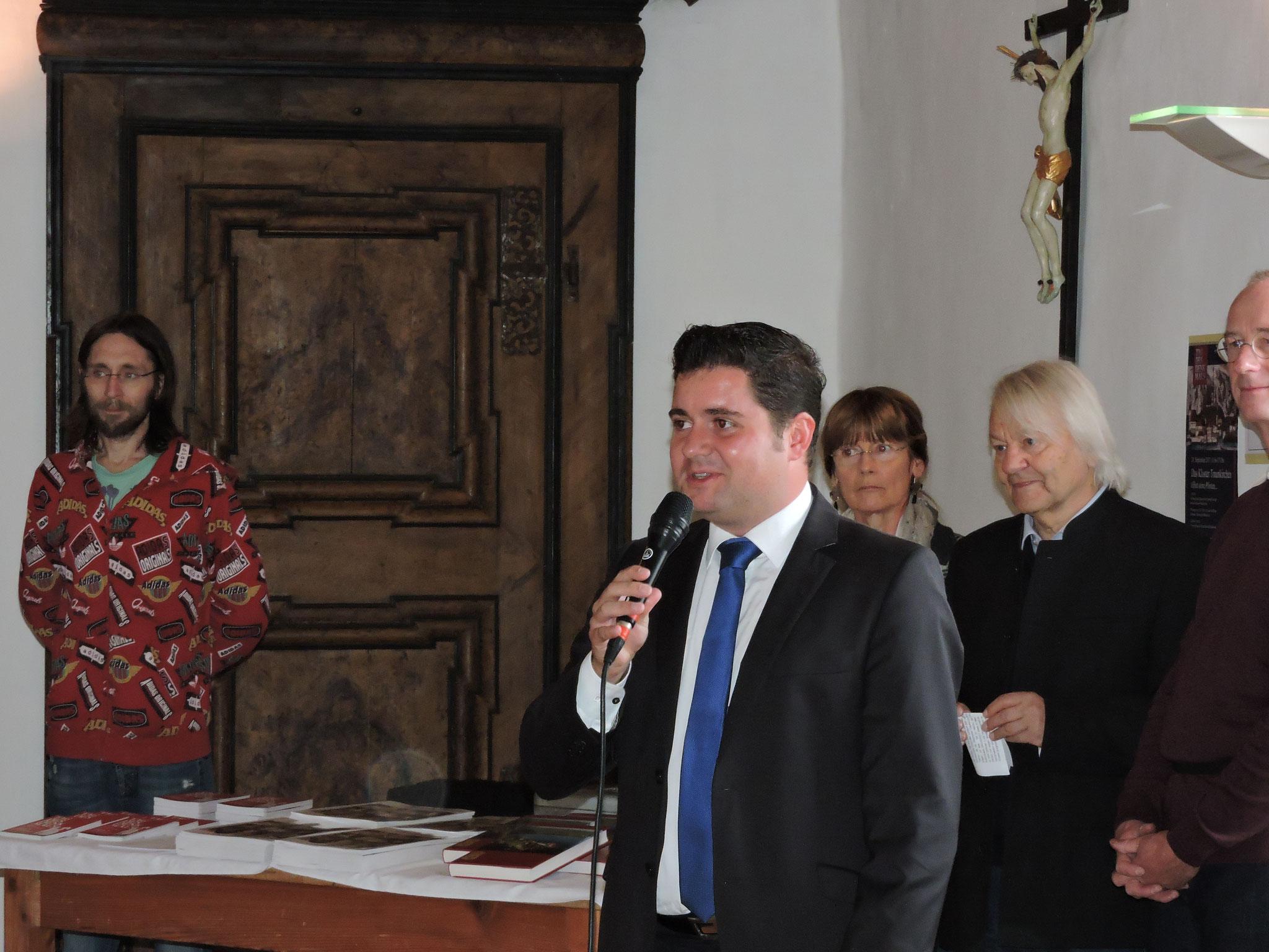 Bürgermeister Christoph Schragl bei der Eröffnung ©B. Bichler