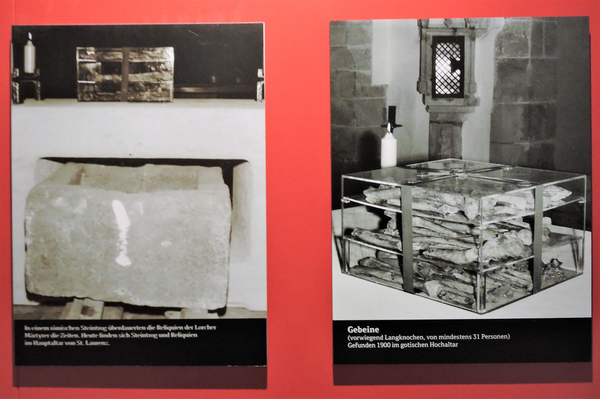 Die Auffindung von Reliquien der Märtyrer des 4 Jhd. wird erklärt ©B. Bichler