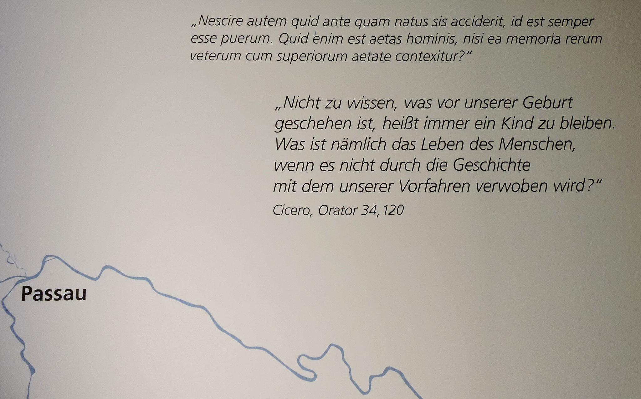 Das Motto des Museums in Passau ©B. Bichler