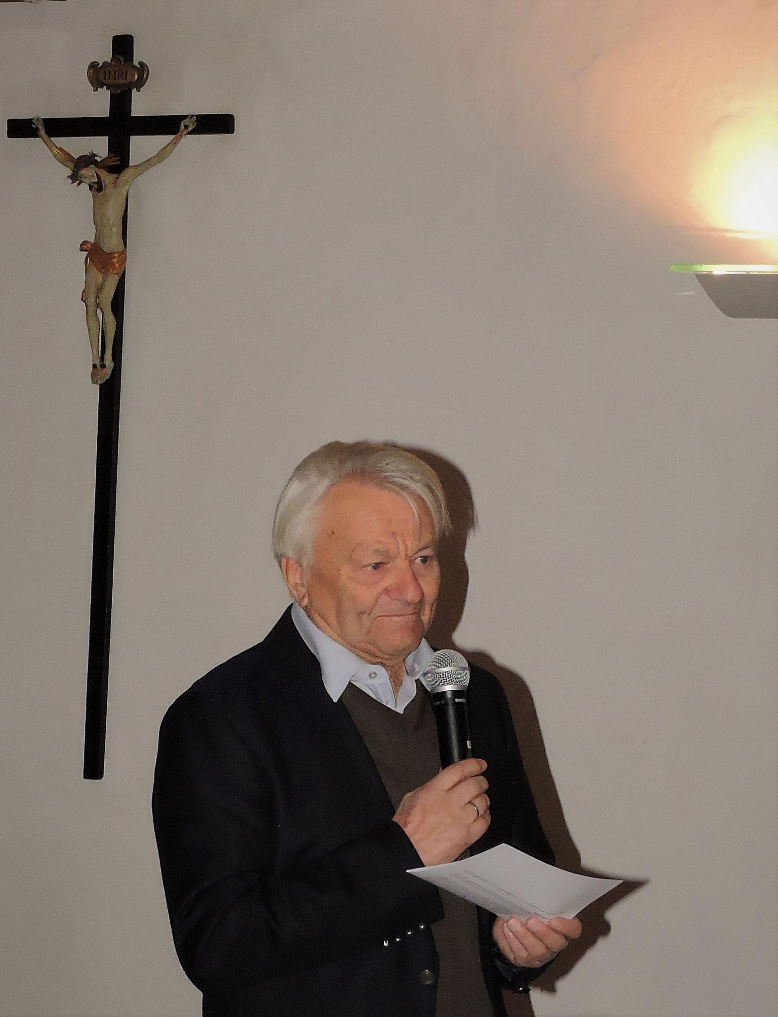 Obmann Manfred Schindlbauer informierte die Gäste auch über den Stand des Museumsprojekts ©B. Bichler