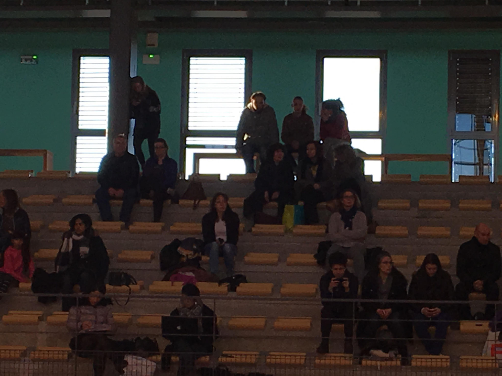 Des supporters courageux