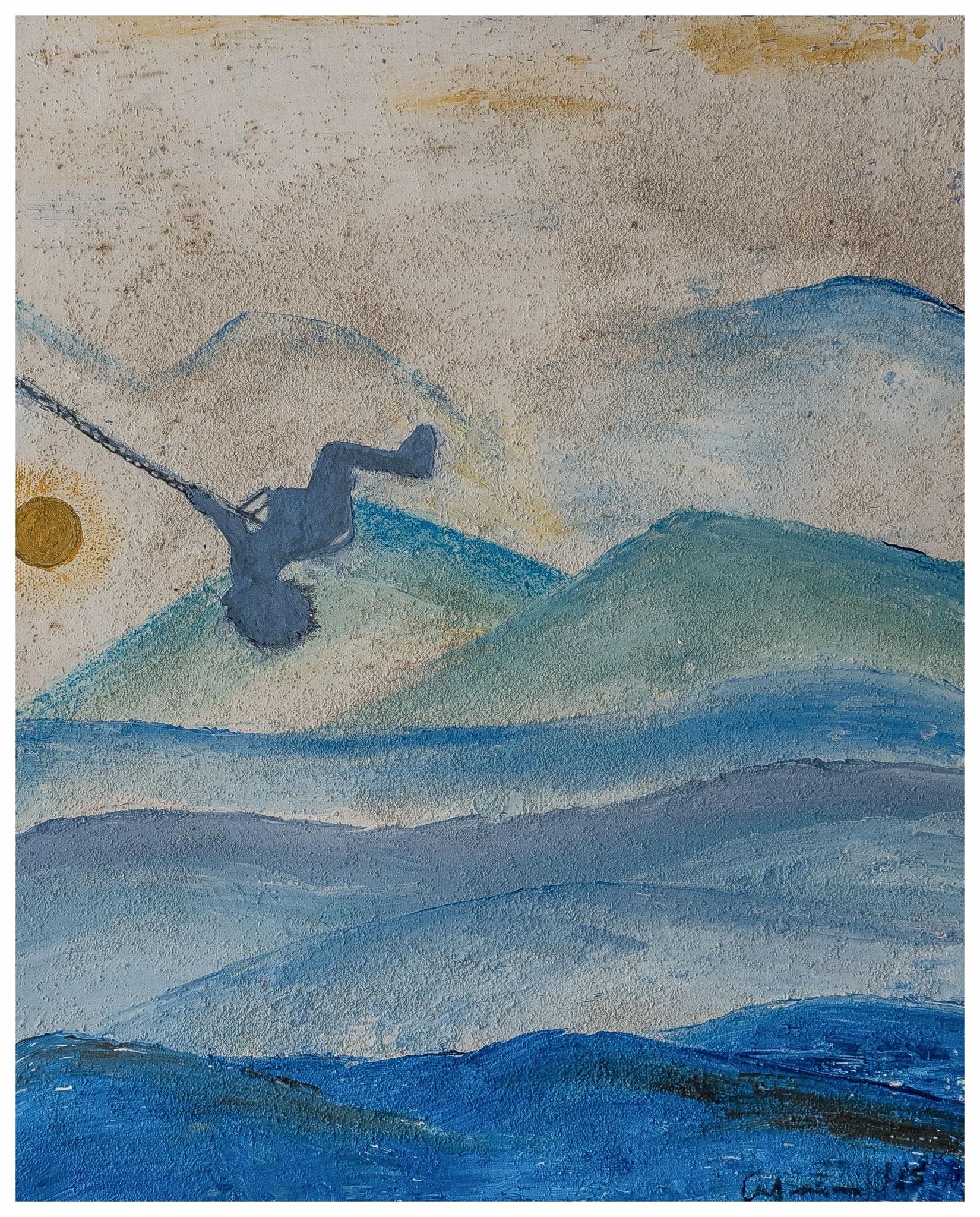 Schwerelos - Acryl, Sand - 30 x 40 cm