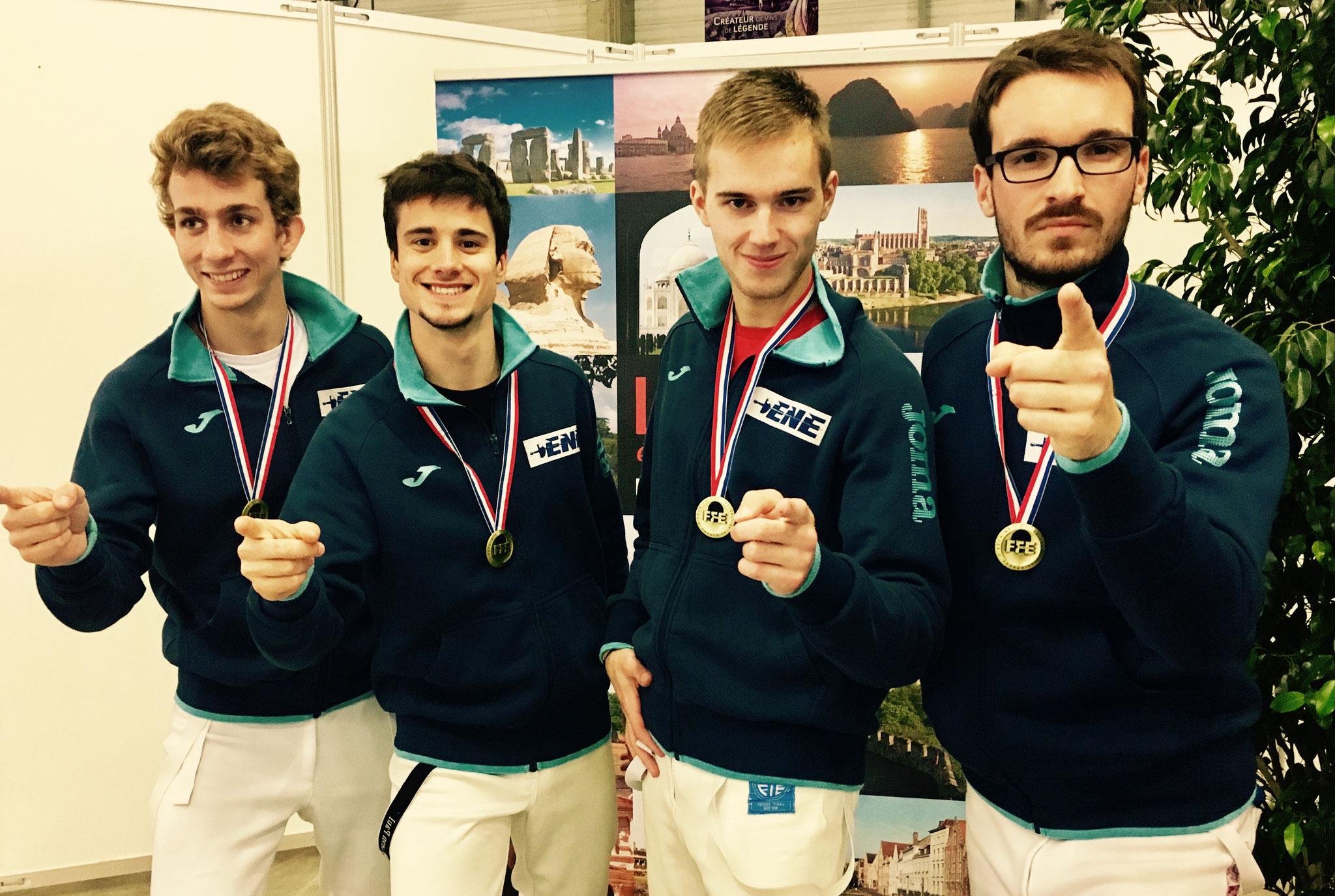 ENE : 3e des Championnats de France N2 avec FOUGY Nathan, DOGUET Clément, LEMARIE Corentin et MOTTE Alexandre