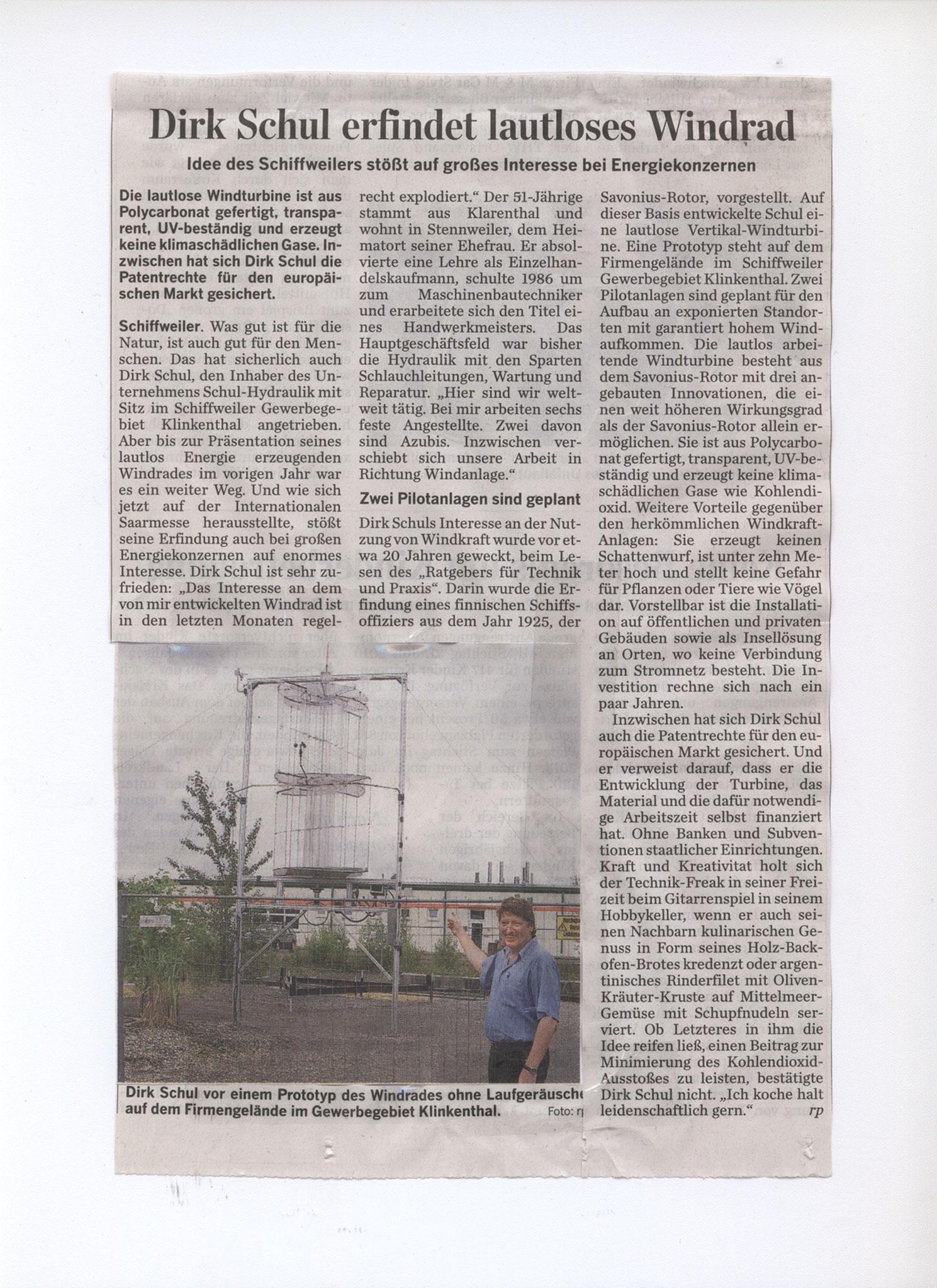 Saarbrücker Zeitung 2010