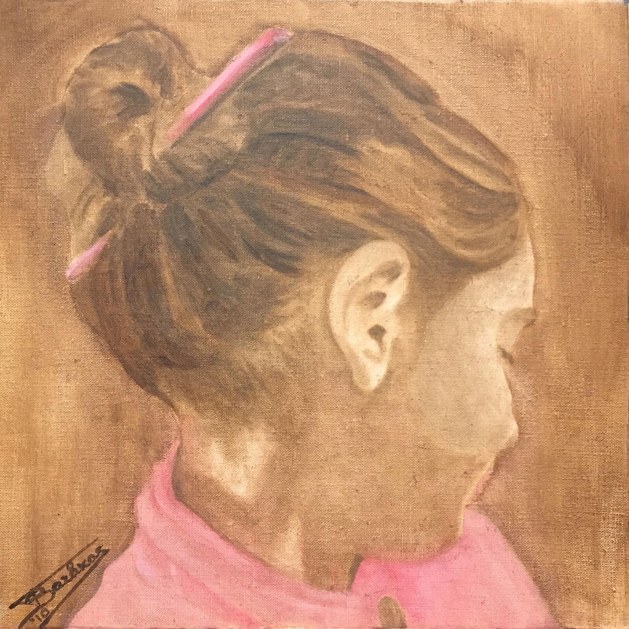 """""""Domna""""  (40x40)cm, Huile sur lin brut, 2010 - Collection privée"""
