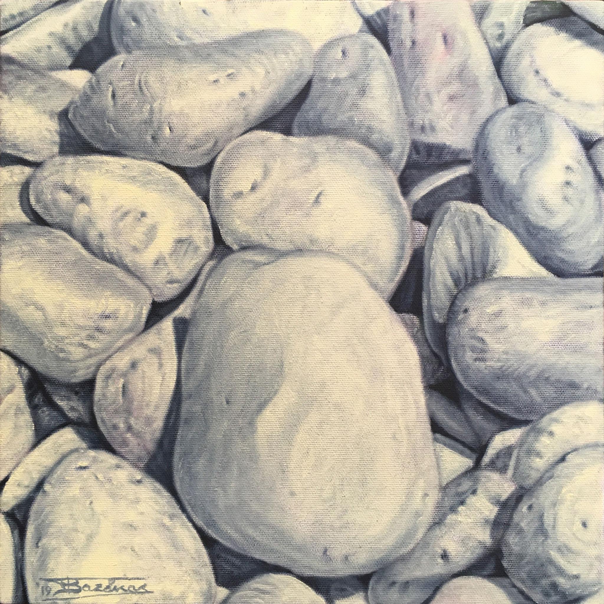 """Votsala#3""  (30x30)cm, Oil on linen canvas (2019) - Private collection"