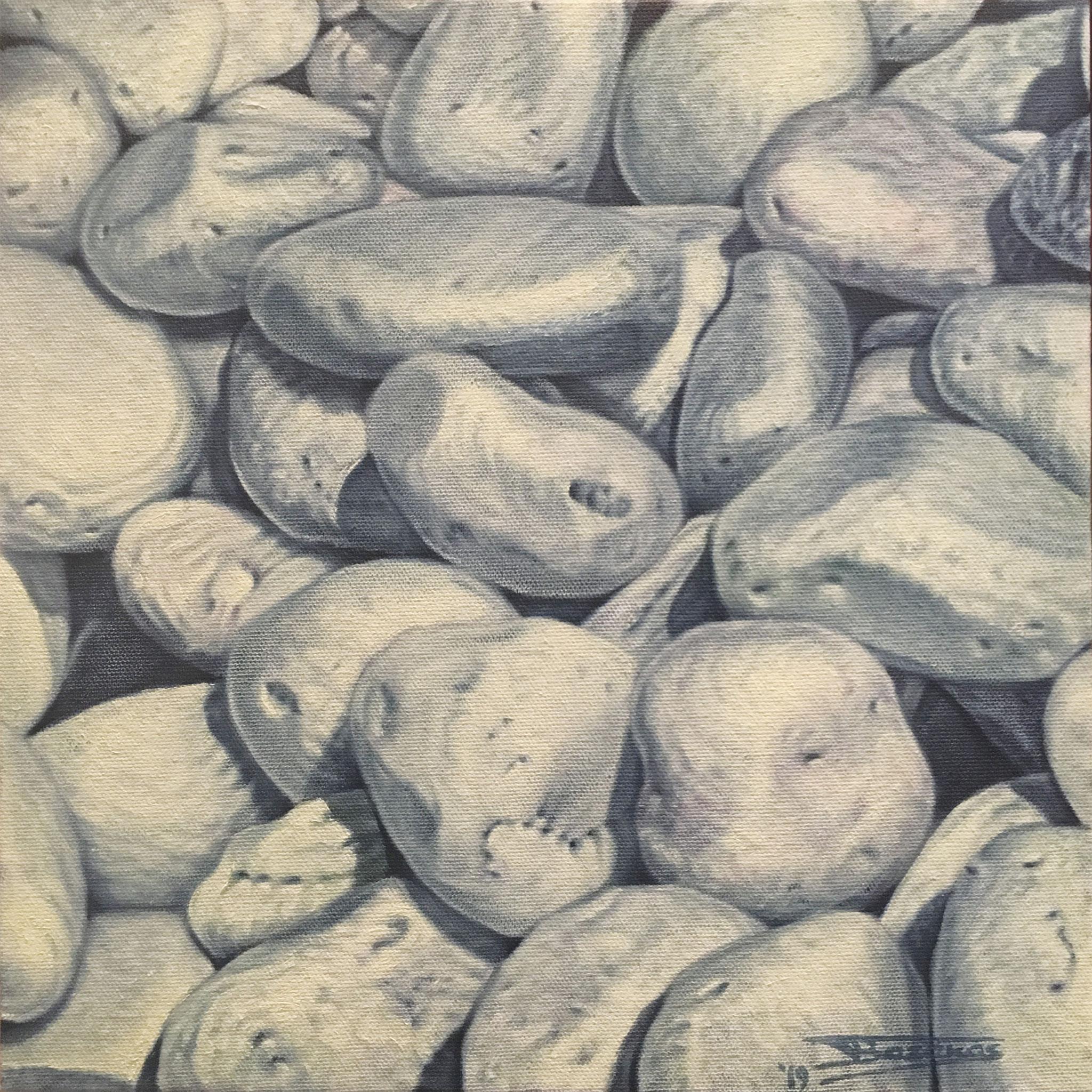 """Votsala#1""  (30x30)cm, Oil on linen canvas (2019) - Private collection"