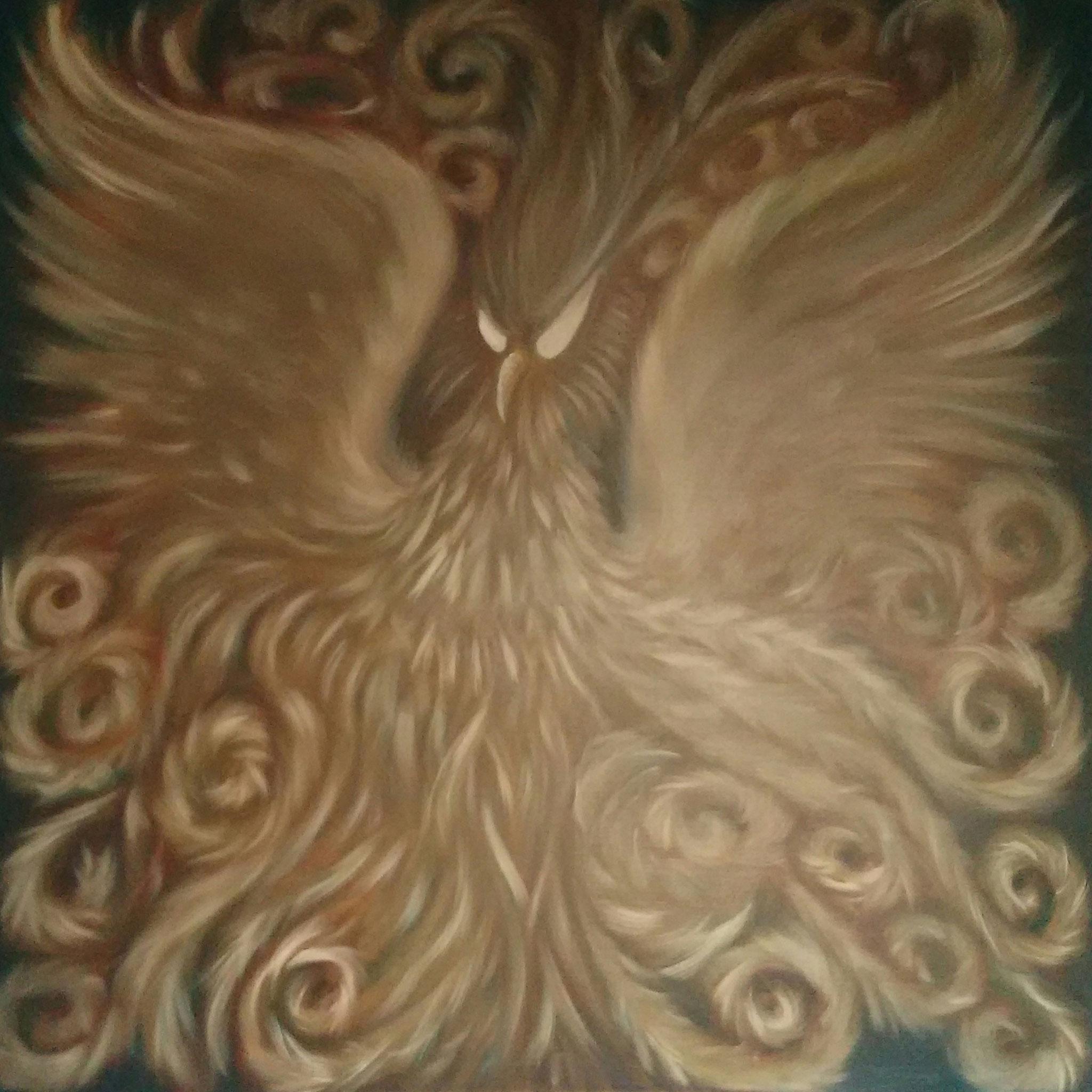 ''Symorgh'' (150x150)cm, Huile sur lin