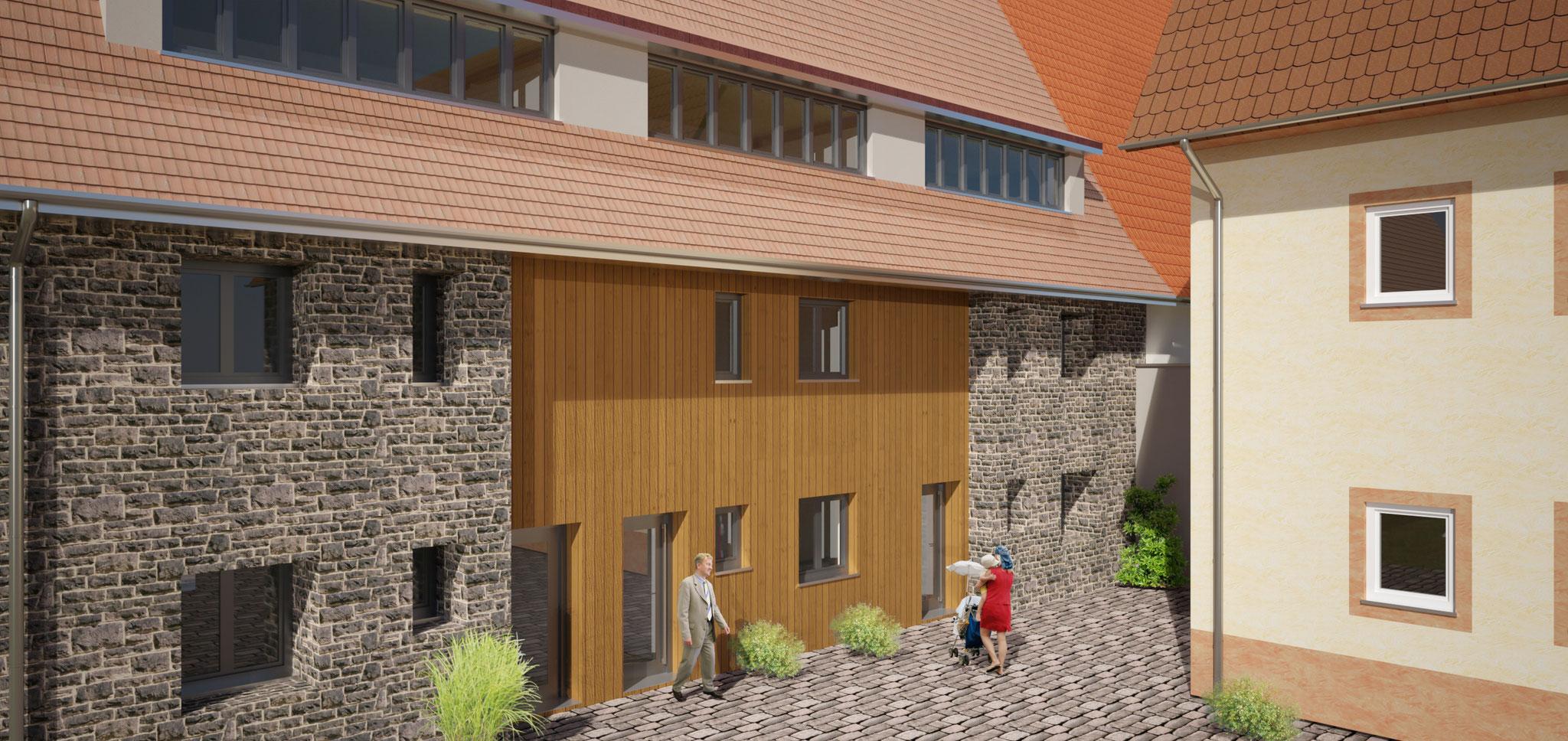 Seckenheim, 3 Reihenhäuser mit Hof, contura GmbH