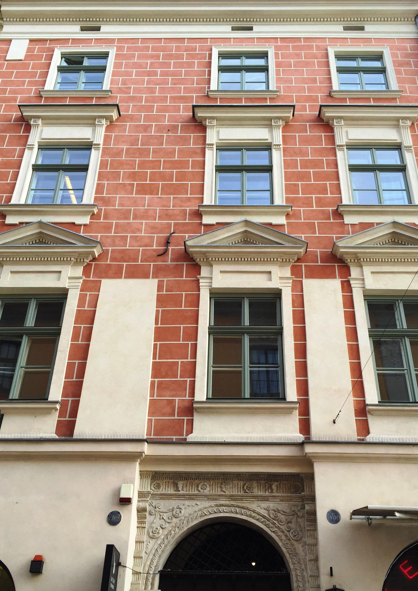 Restaurator AC Konserwacja Zabytków Fresco Fassade Altstadt Krakau Polen