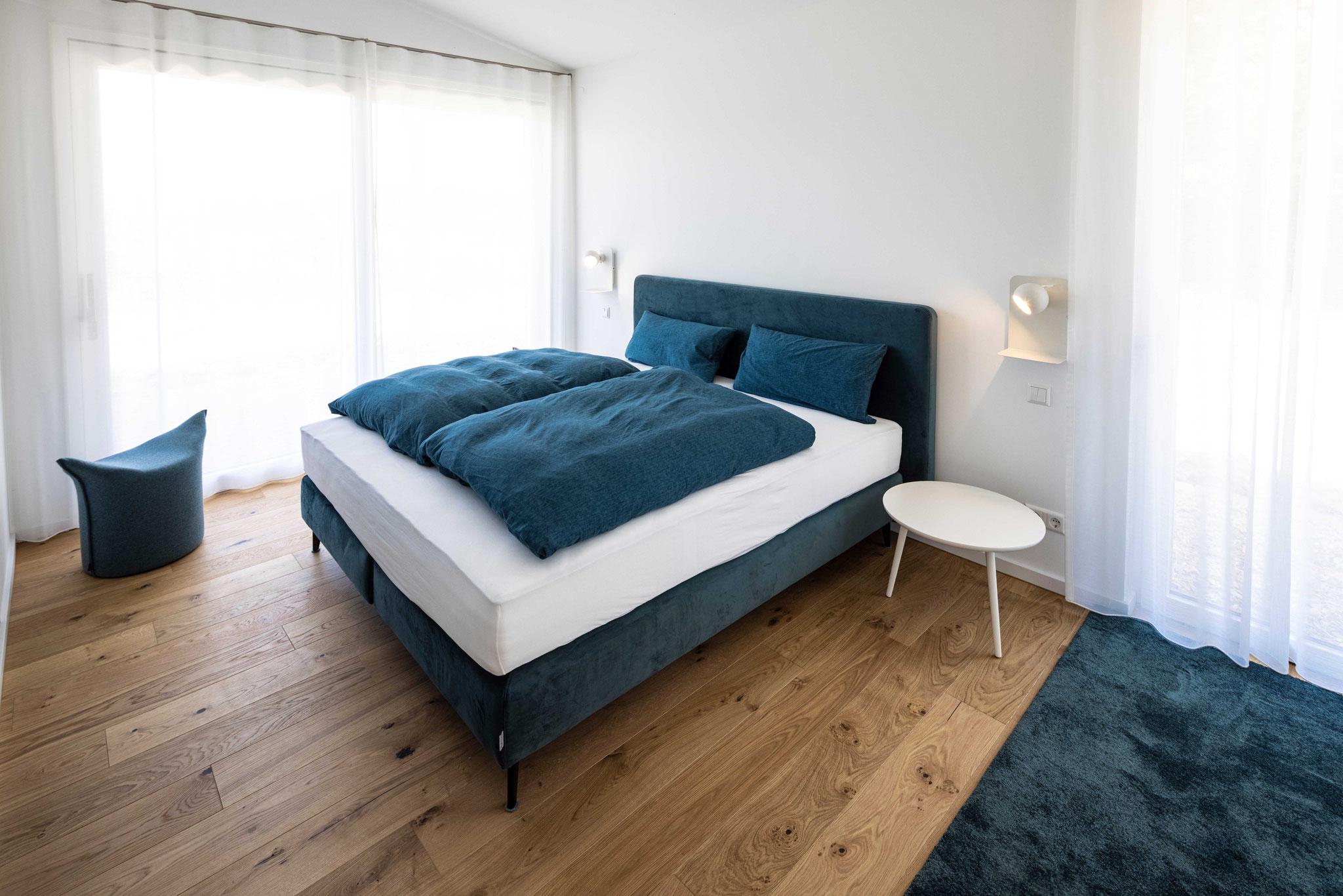 Boxspring-Bett im Schlafzimmer