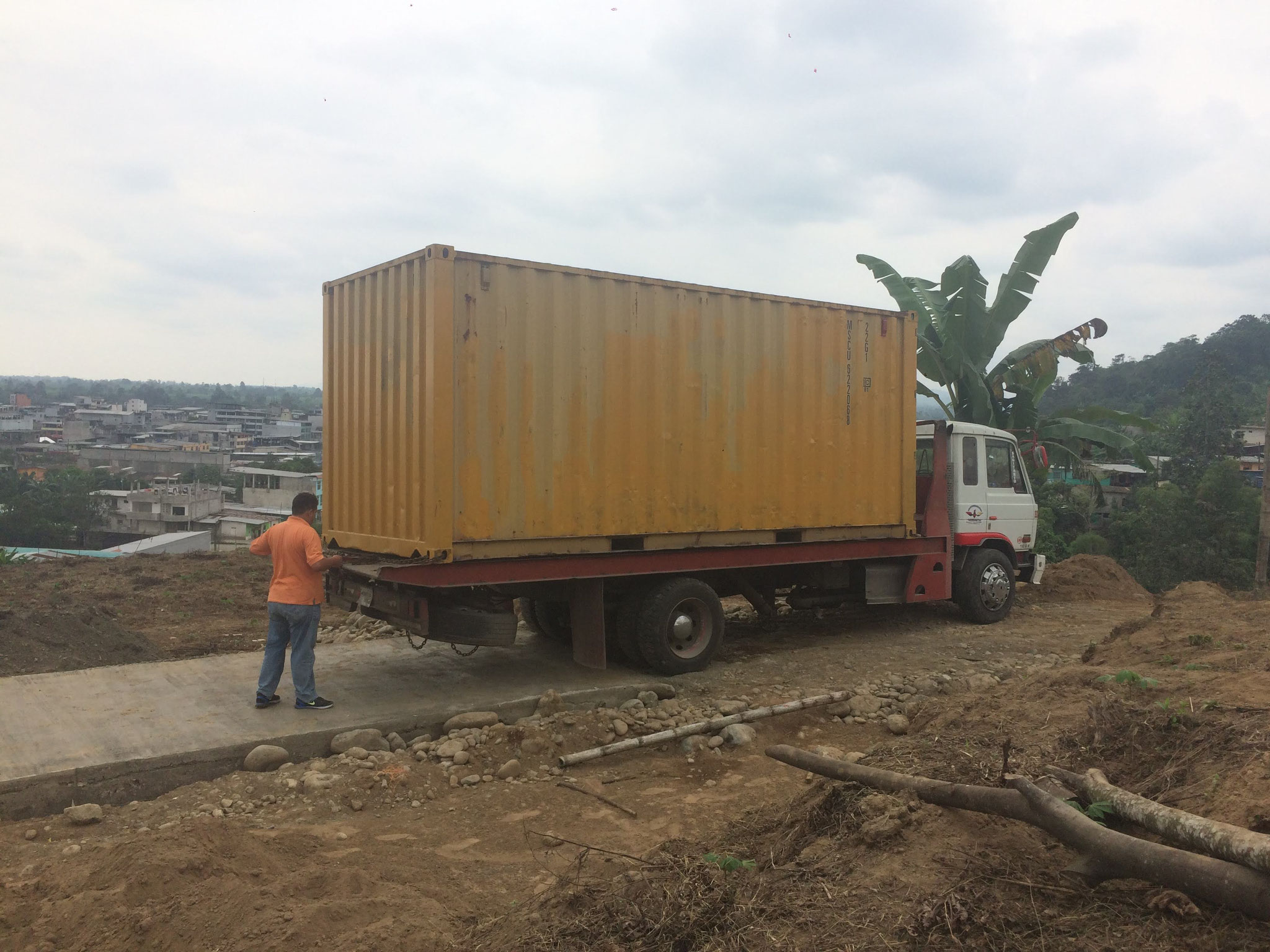 der Container wird geliefert