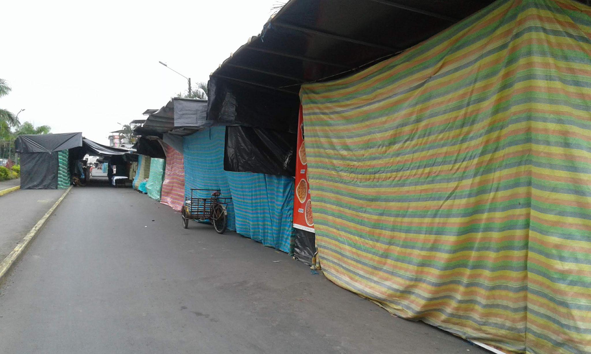 Marktstände noch geschlossen