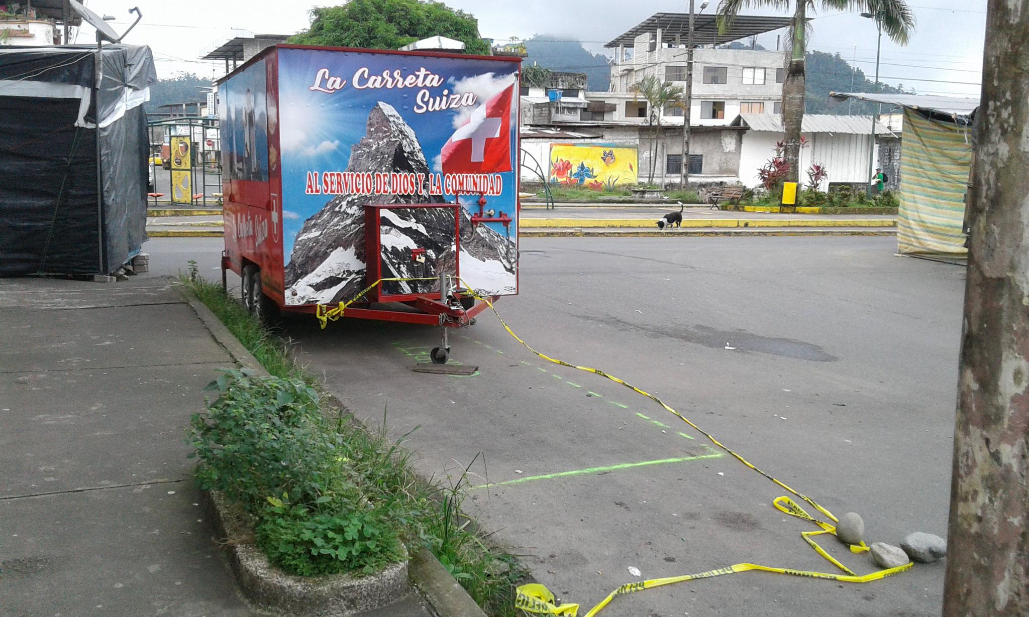 Schweizerwagen wird für 3 Wochen installiert