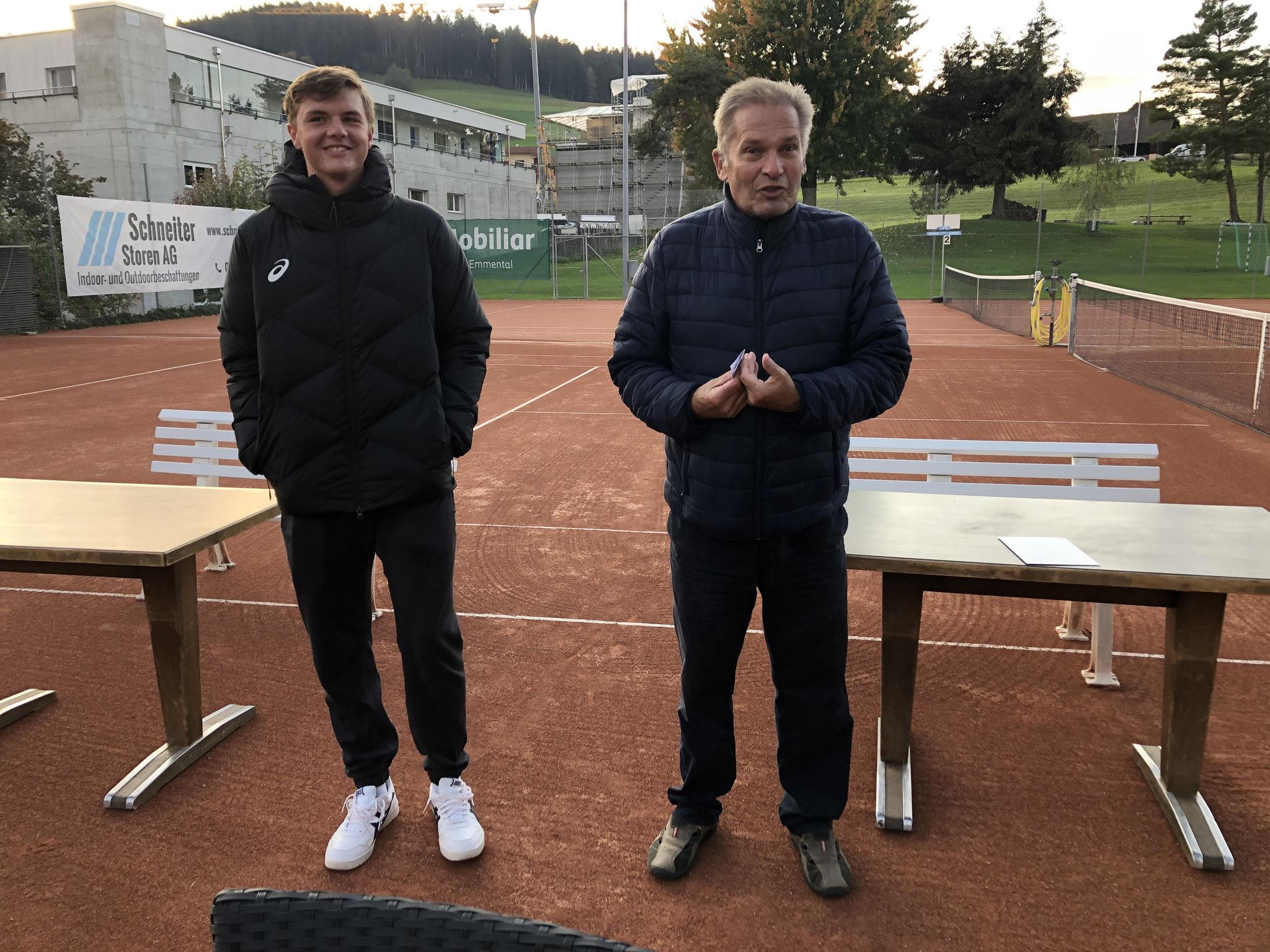 Grosser Empfang beim TC Grosshöchstetten mit Rede vom Präsi. Danke Jost