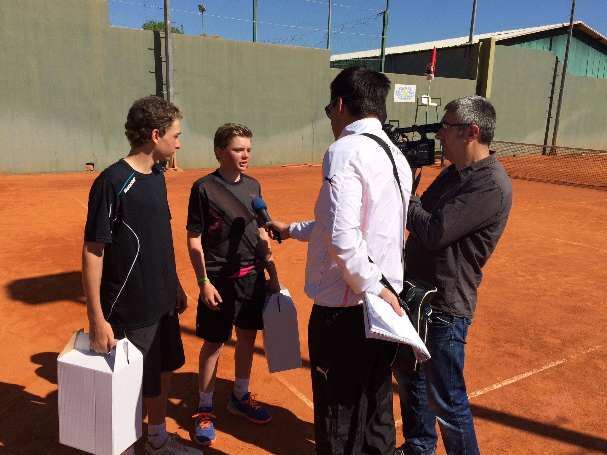 Nach dem Sieg gab es ein Interview auf englisch für's kroatische Fernsehen.
