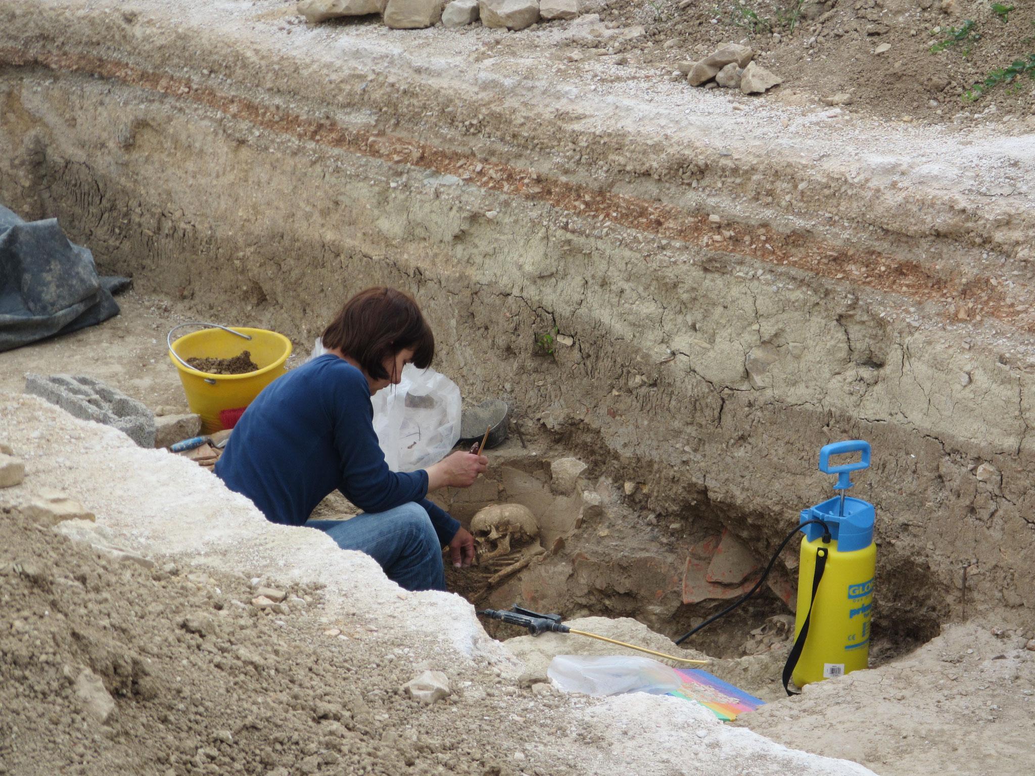 Ausgrabungen  sind immer noch im Gange.
