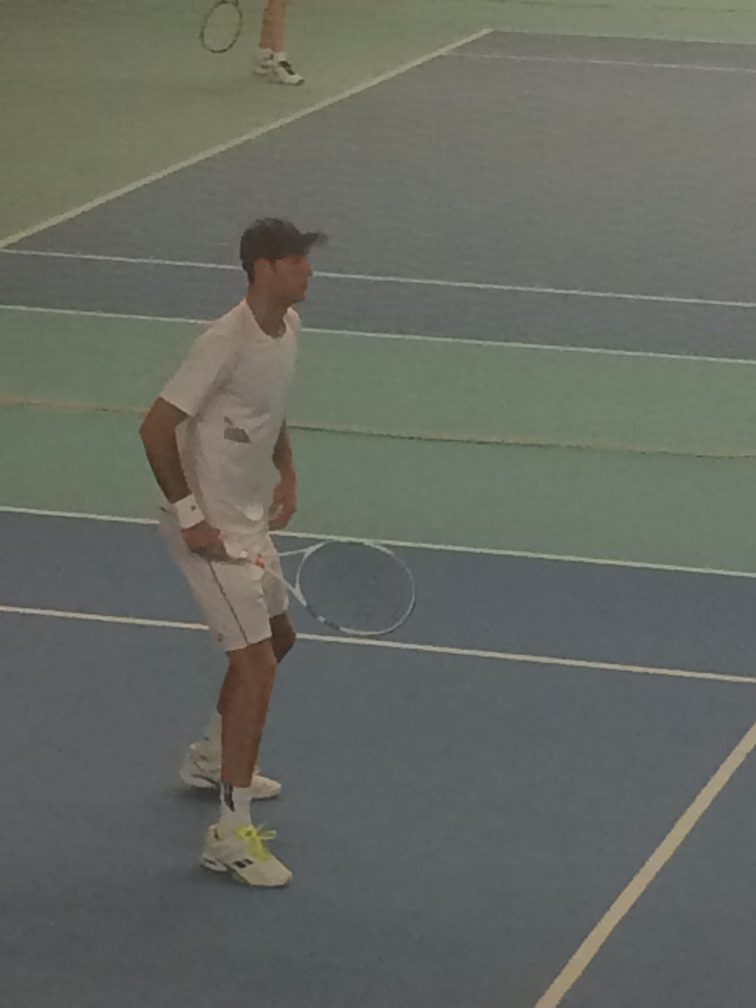 Erster Gegner, A. C. Parker, Jg 99, ca. 1.90 gross, Nr. 490 ITF / 1654 ATP
