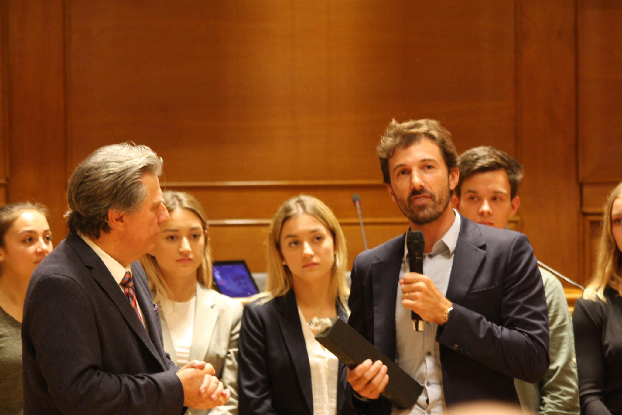 Fabian Cancellara war ebenfalls dort und hielt eine Laudatio.