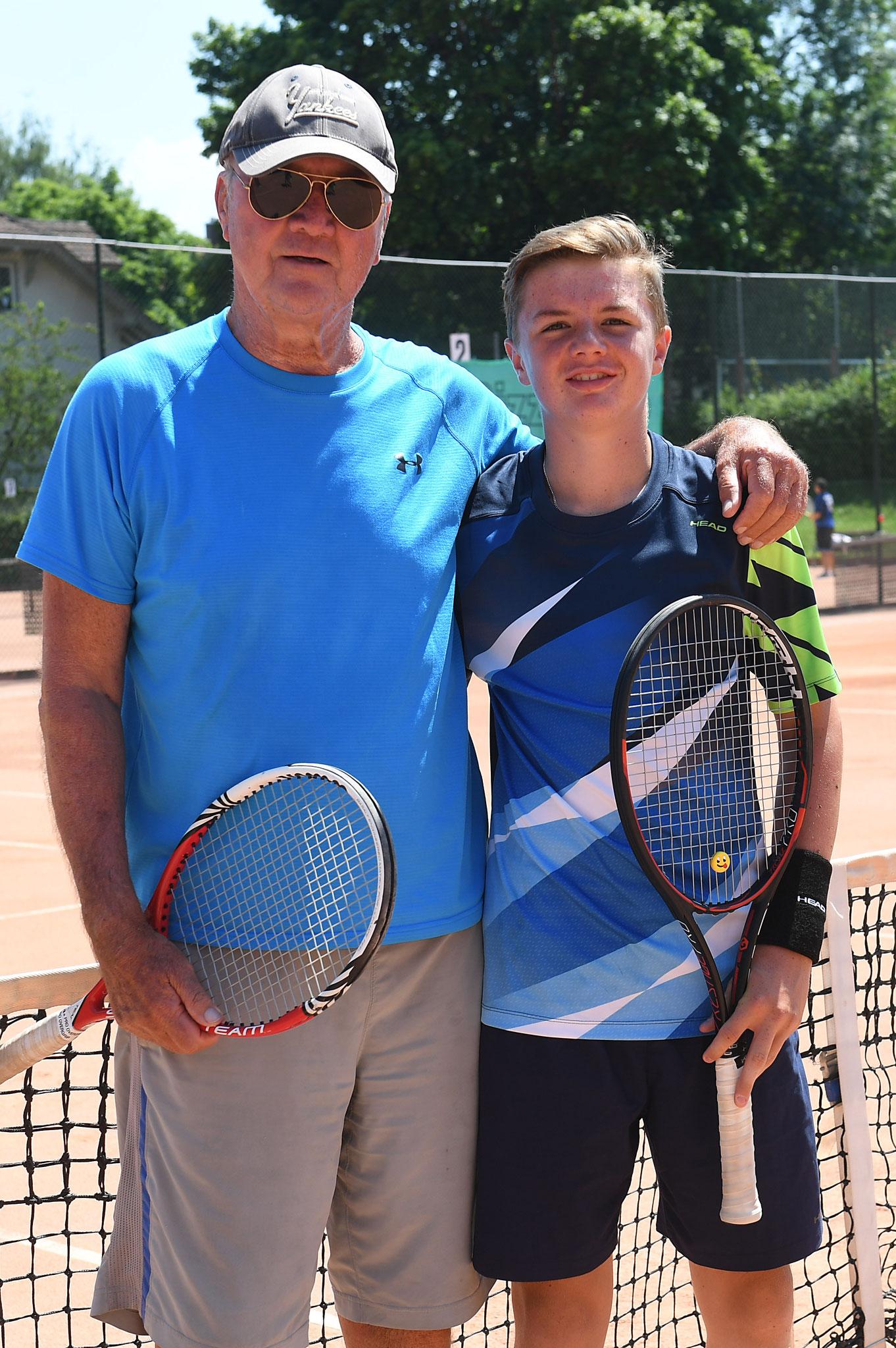 Mit seinem langjährigen Trainer Jürgen Strehlau