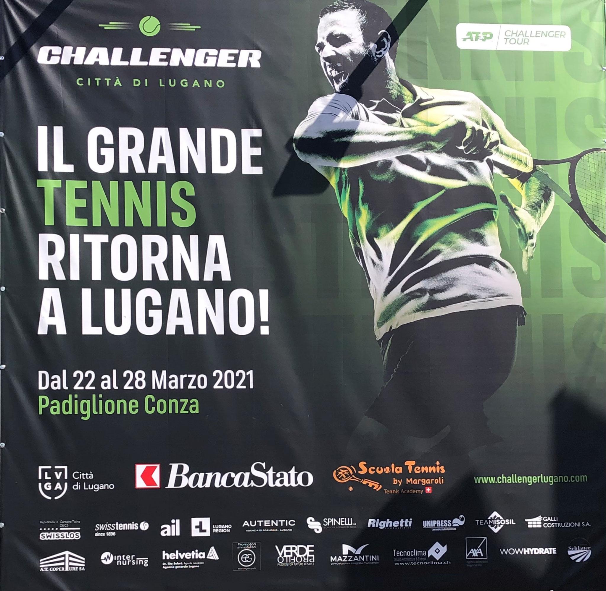 ATC Challenger in Lugano (leider ohne Zuschauer)