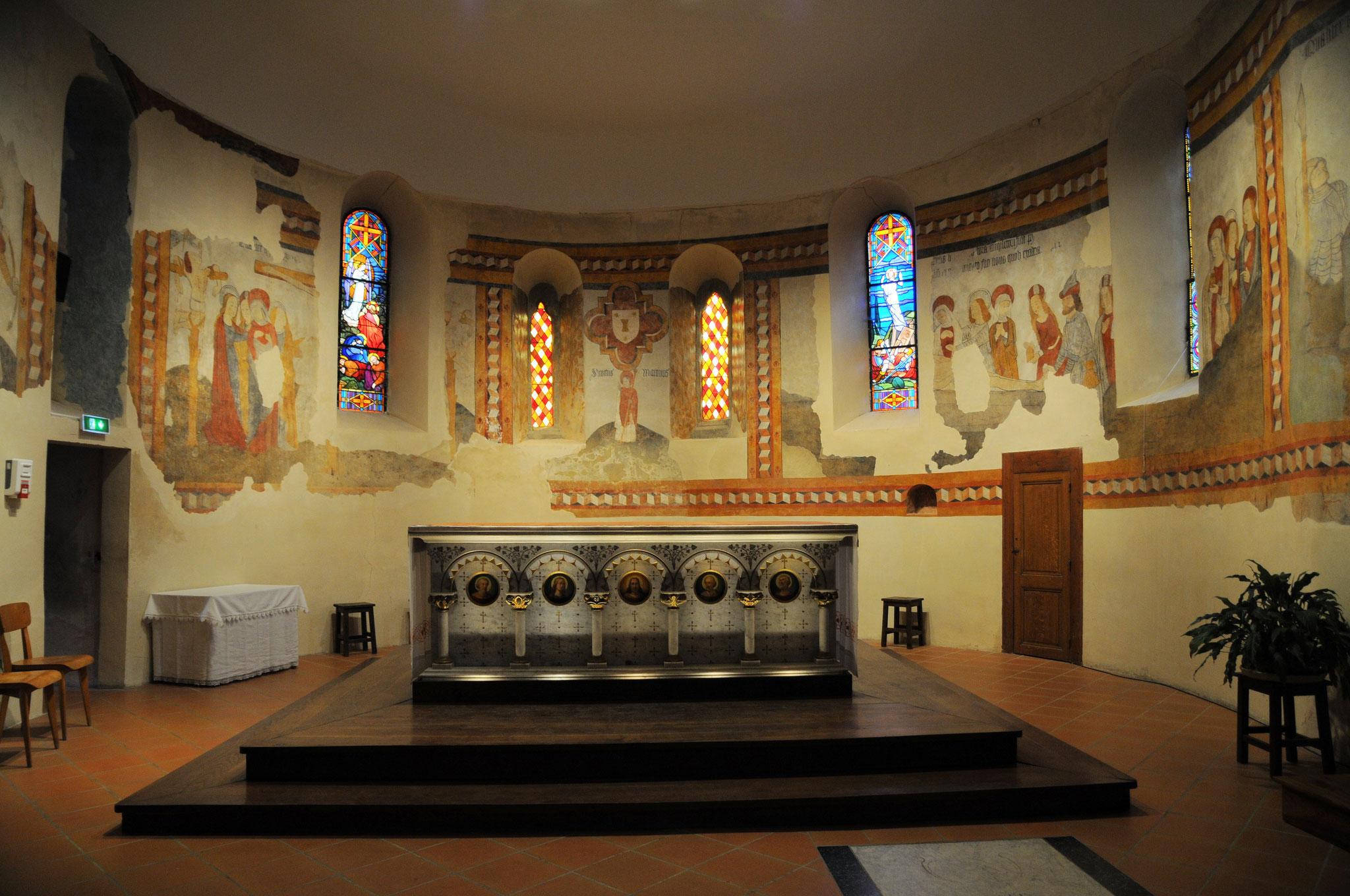 Allemans-du-Dropt : l'église Saint Eutrope et ses fresques fin 15è, début 16è siècles