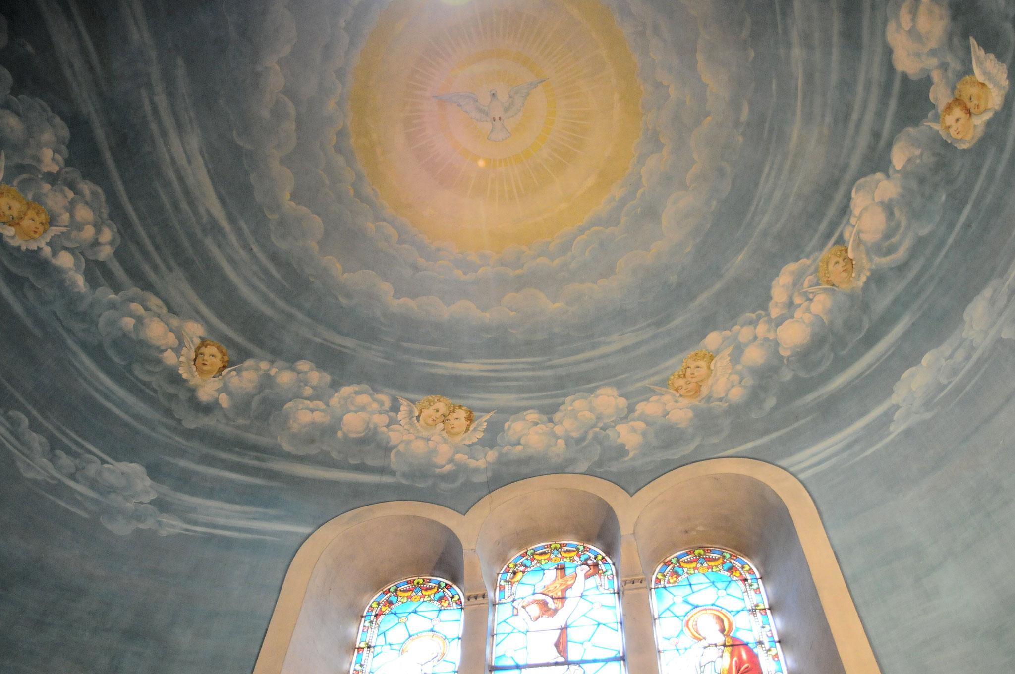 L'église Sainte Marie-Madeleine de Duras : peintures en trompe-l'œil de Masutti