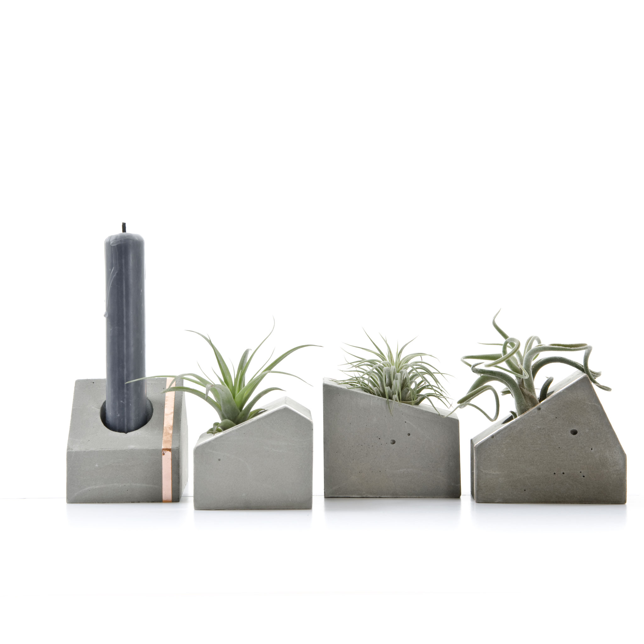 New Concrete House Air Plant Holder
