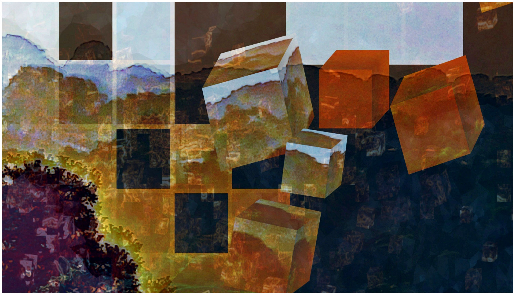 Die Bausteine der Erinnerung, digitale Bearbeitung eigenen Fotos