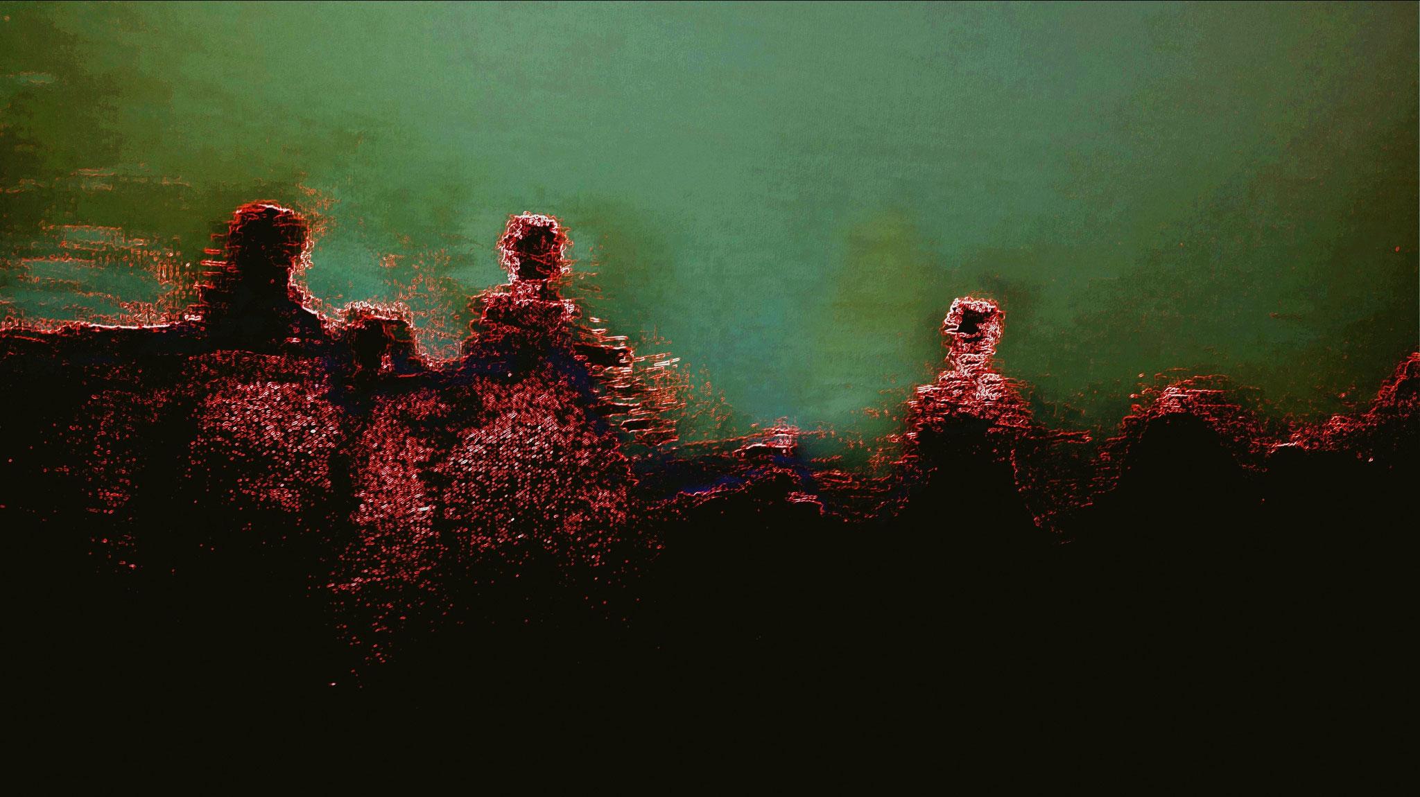 In the face of God - digital Remix eines Bildes der Serie steps into the unknown
