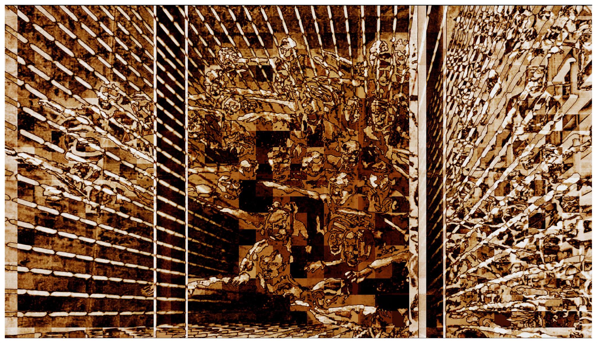 Gefangen im Zeittunnel, digitale Bearbeitung eines eigenen Bildes (Die schwierige Kunst des Neinsagens)