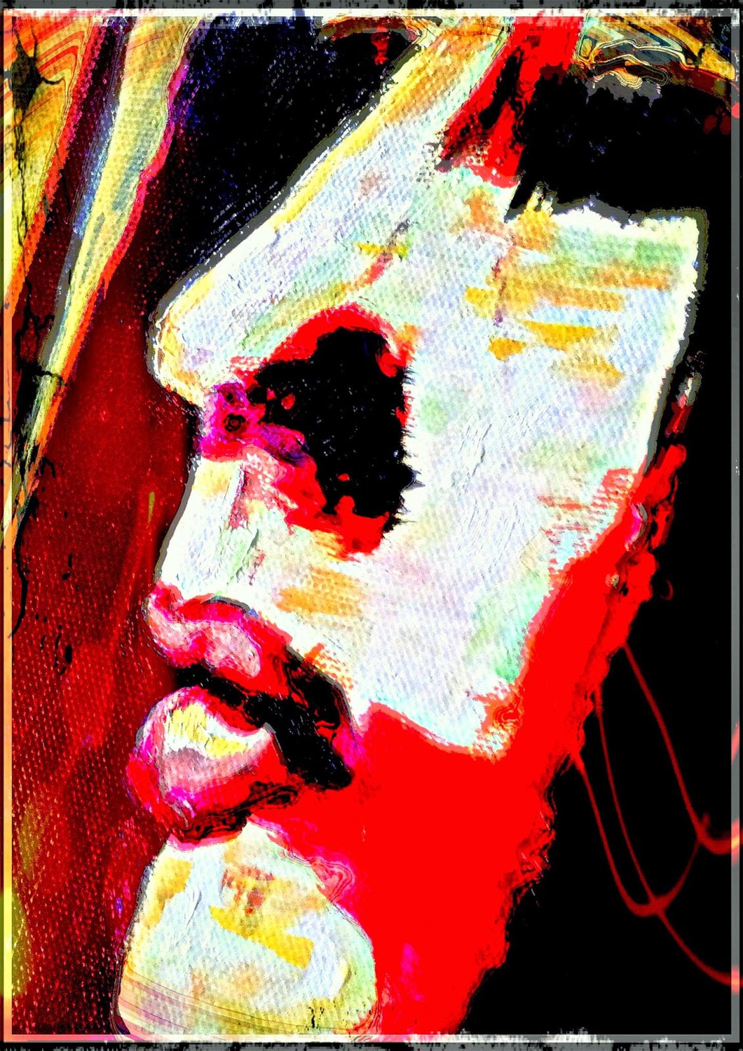 Face - digital Remix des Bildes Nostalgia