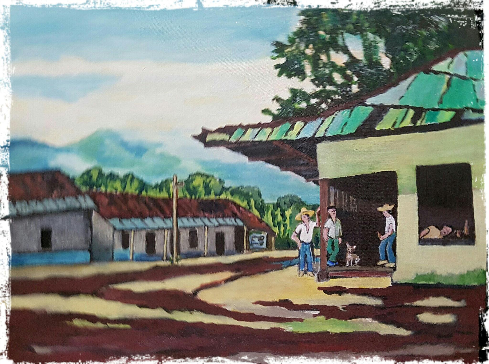 Landschaft, repaint eines bekannten Bildes
