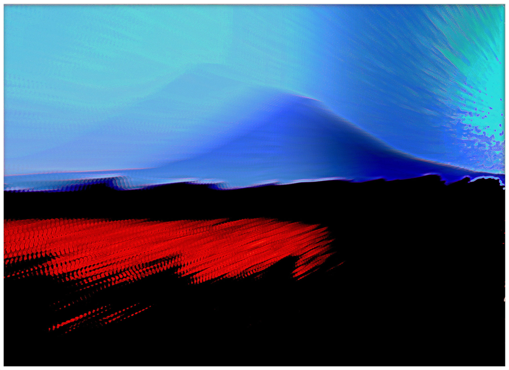 Gleich nebenan, der Vulkan - digitale Bearbeitung eines eigenen Fotos