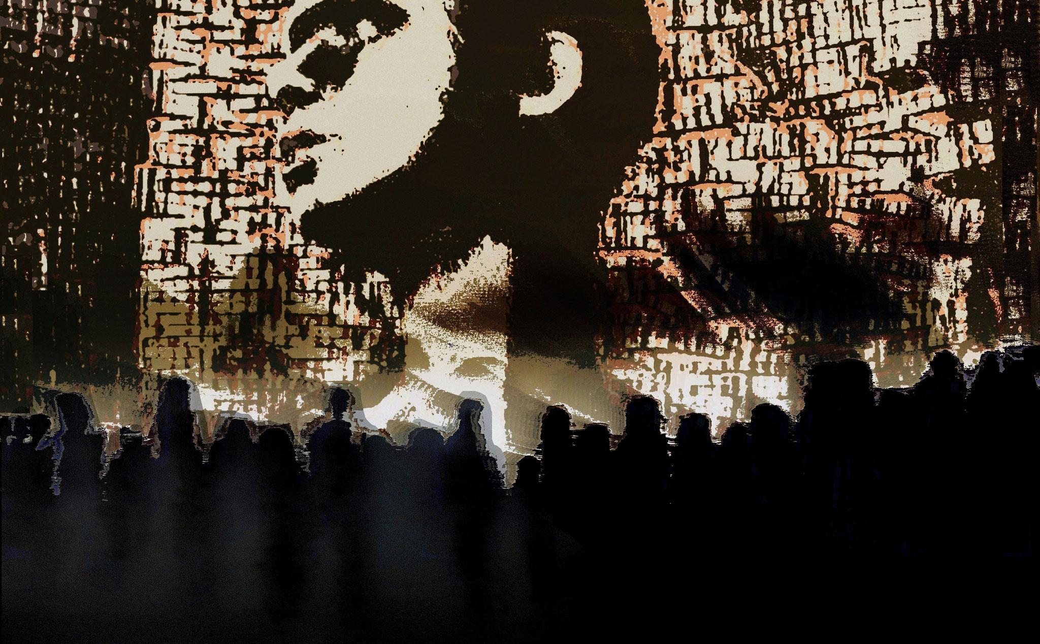 Wir folgen der Führerin - Digital Remix des Bildes SCHNEEWITTCHEN mit einem Bild der Serie steps into the unknown
