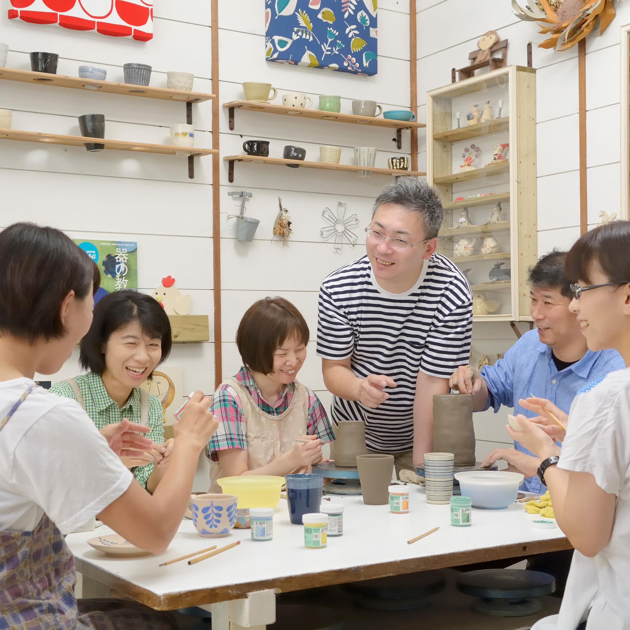 【大垣市陶芸教室夢現窯】少人数制で初めての方も安心です