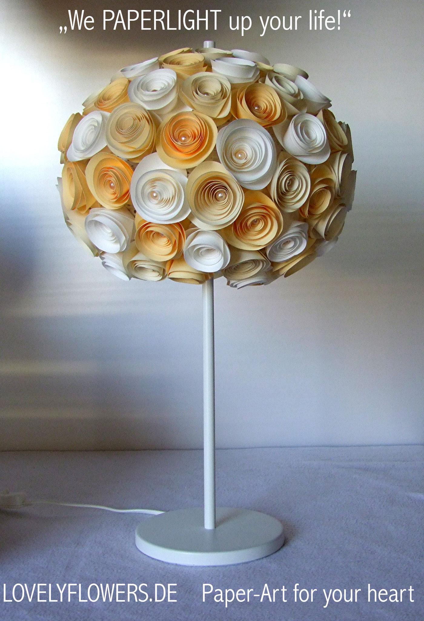 www.lovelyflowers.de - Paper Art Stehlampen sind die romantischste Deko für Wohn- und Schlafzimmer!