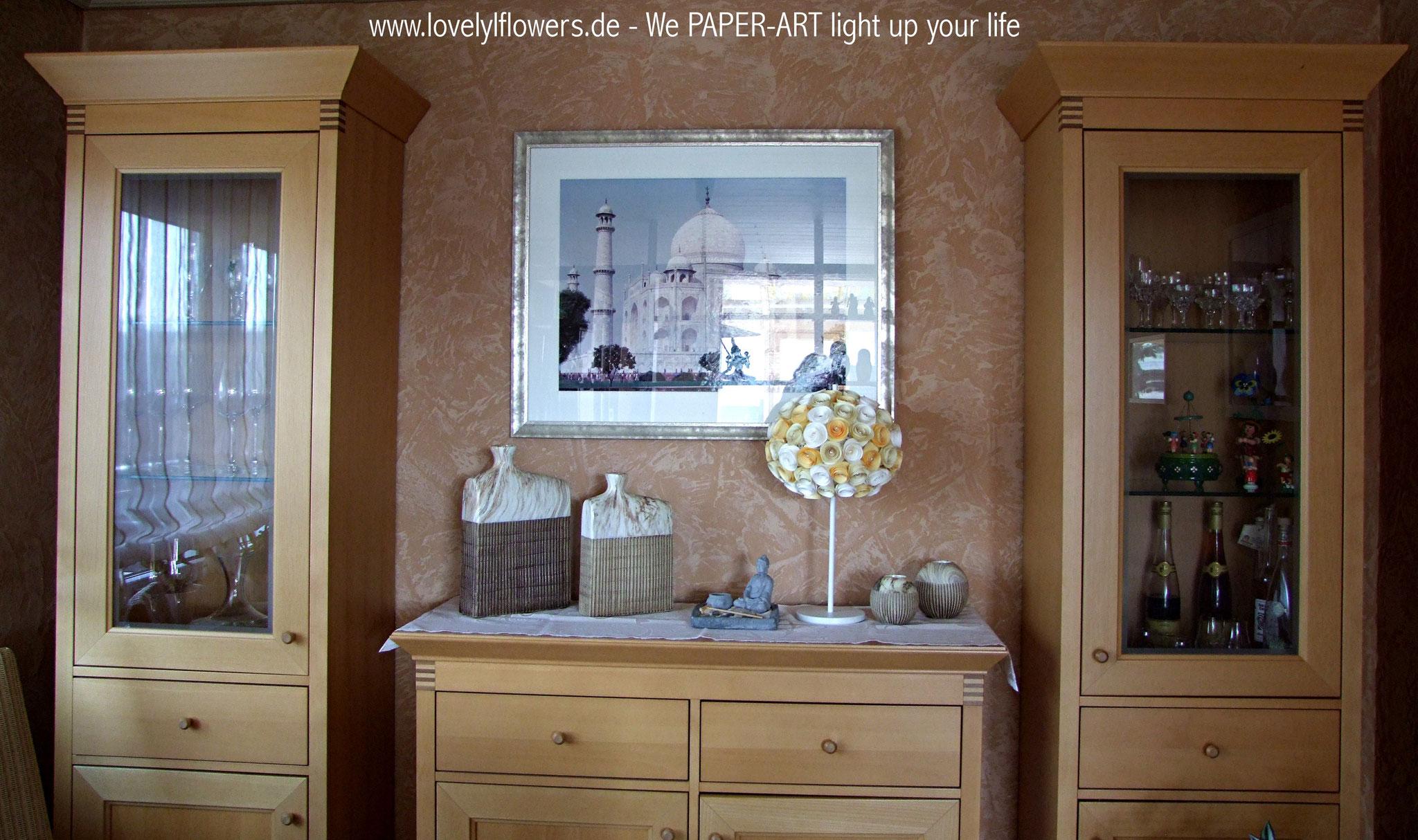 www.lovelyflowers.de - Paper Art Lampen sind die romantischste Wohndeko!