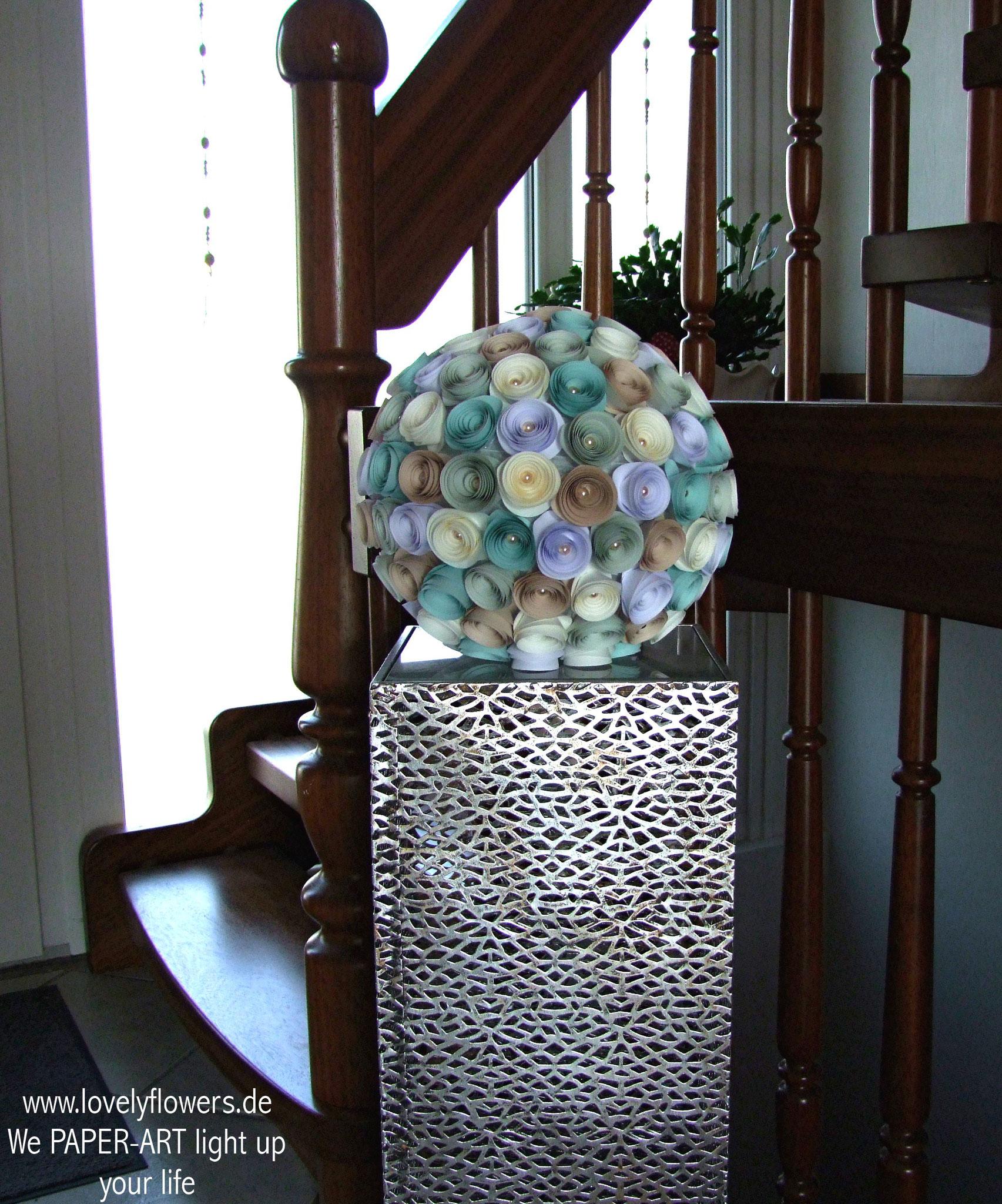 www.lovelyflowers.de - Paper Art Lampen verschönern Flure!