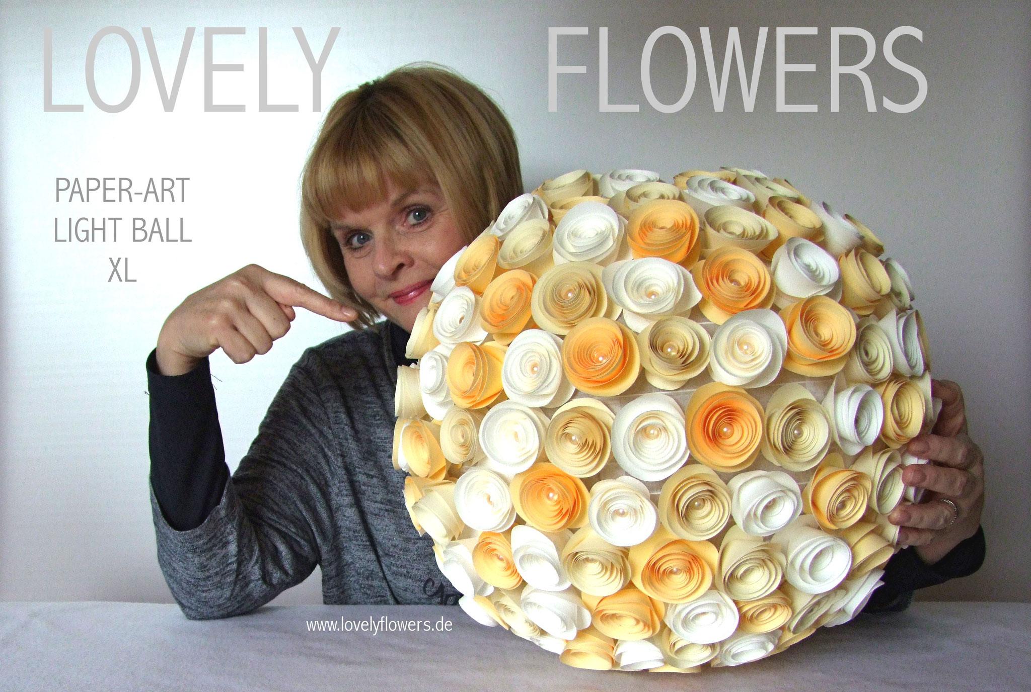www.lovelyflowers.de - Paper Art Lampen gibts auch in gaaaanz groß!