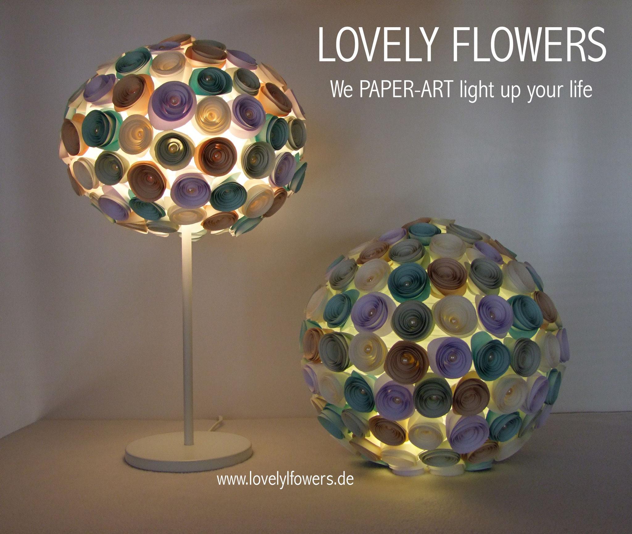 www.lovelyflowers.de - Paper Art Lampen machen Wohlfühlambiente!