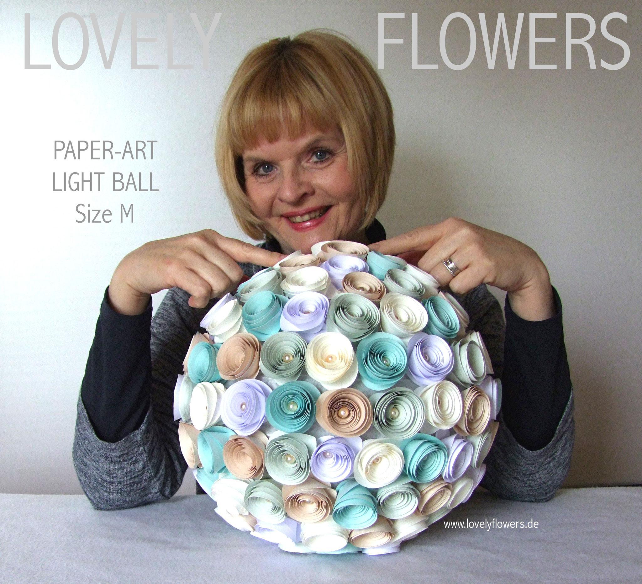 www.lovelyflowers.de - Paper Art Lampen gibt es in allen Größen!