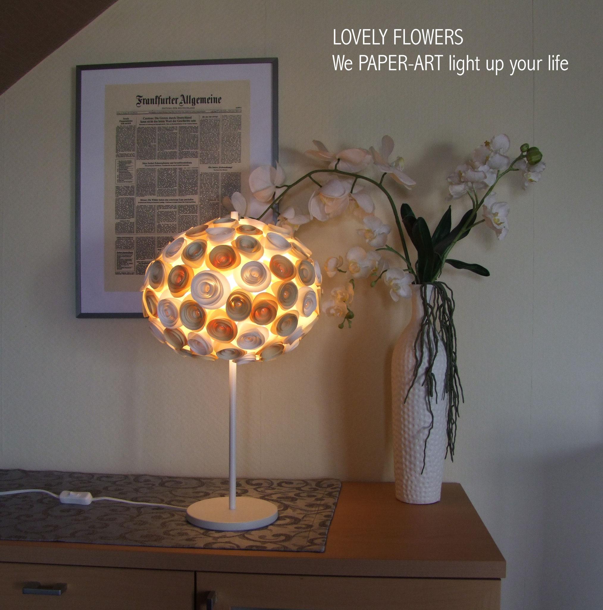 www.lovelyflowers.de - Paper Art Lampen geben Deinem Zuhause einen romantischen Touch!